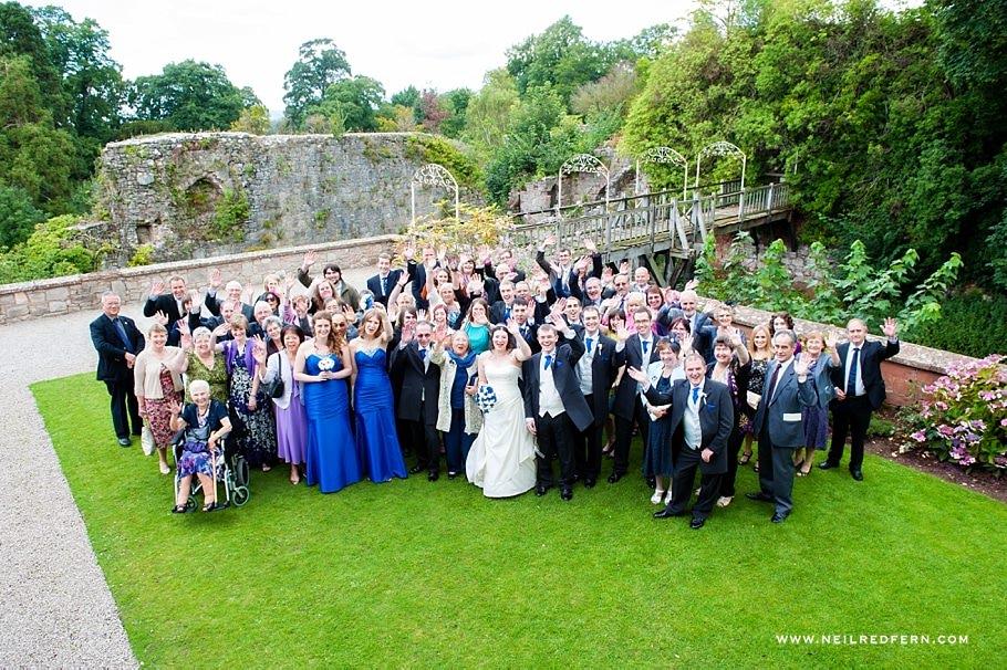 Ruthin Castle wedding photographs 01