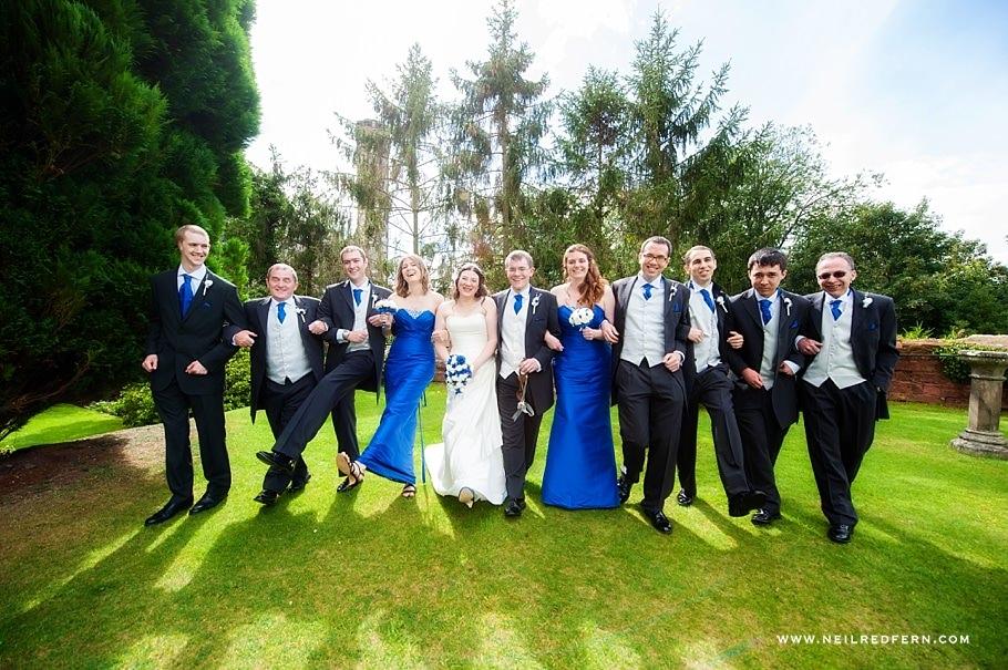 Bridal party wedding photograph