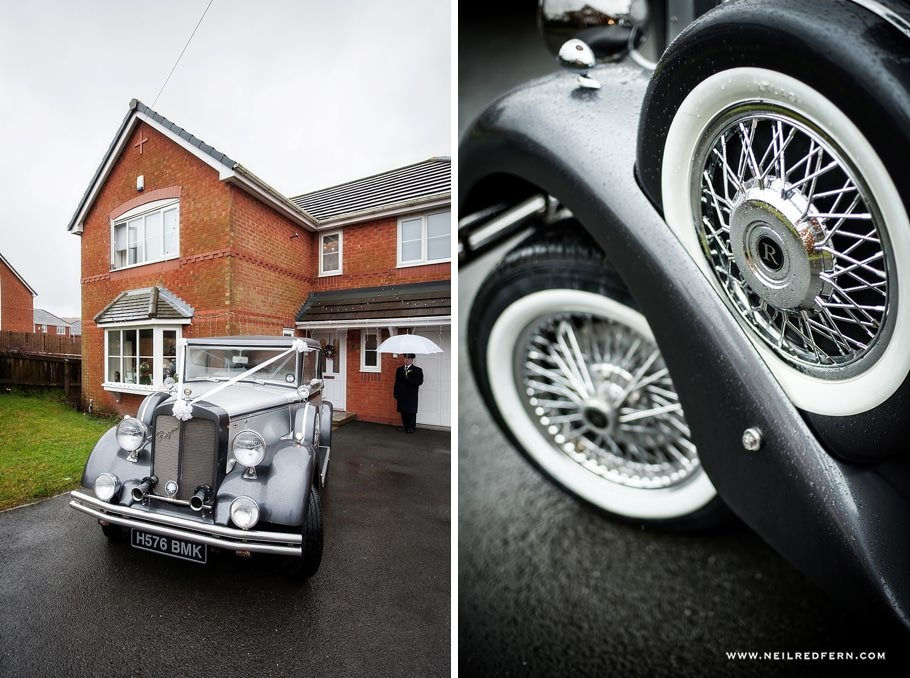 Photograph of wedding car