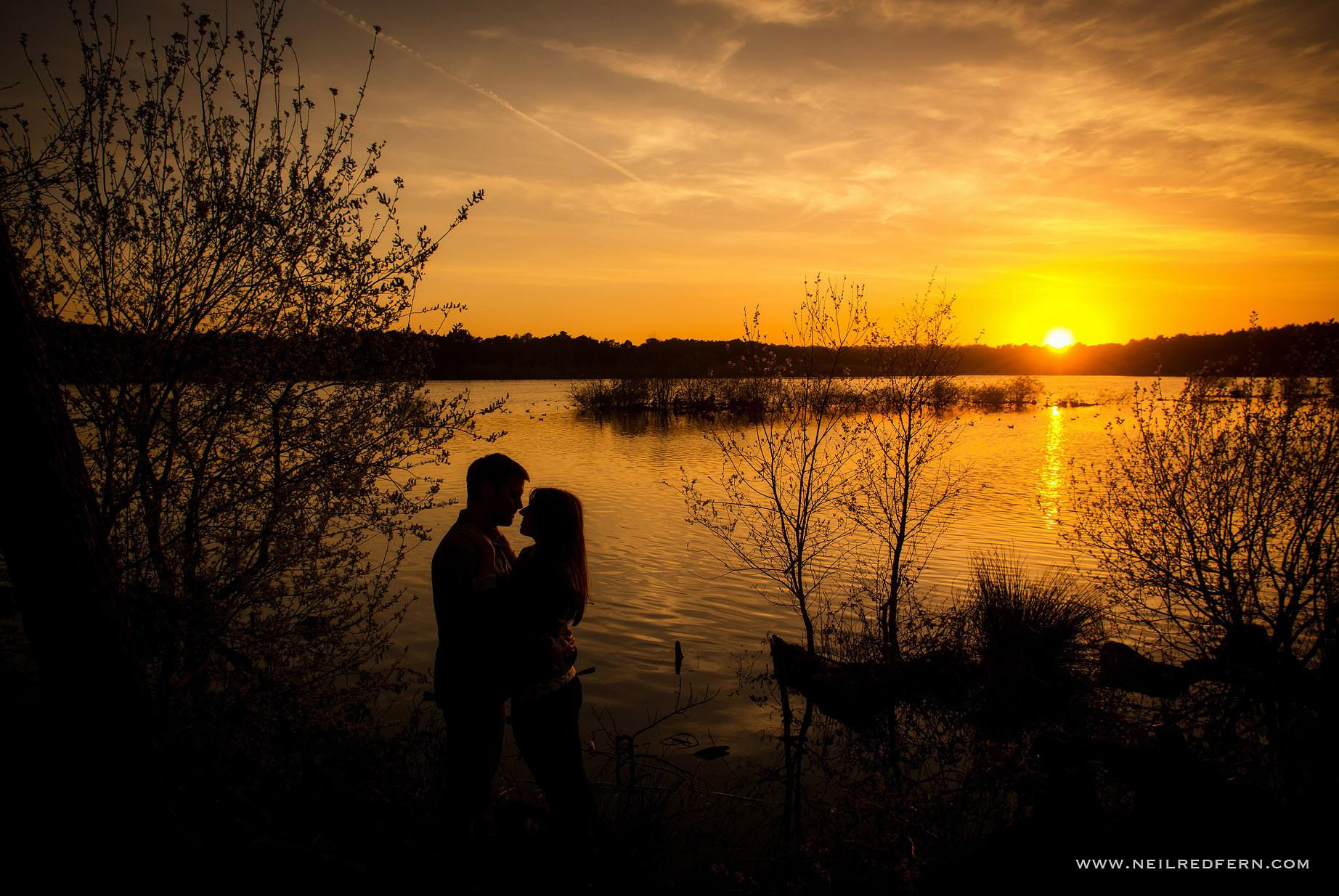 sunset engagement shoot photograph 3