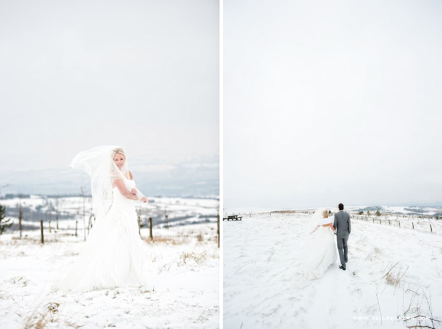 Wedding photographs in the snow 04