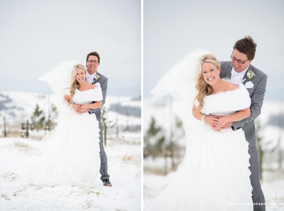 Wedding photographs in the snow 07