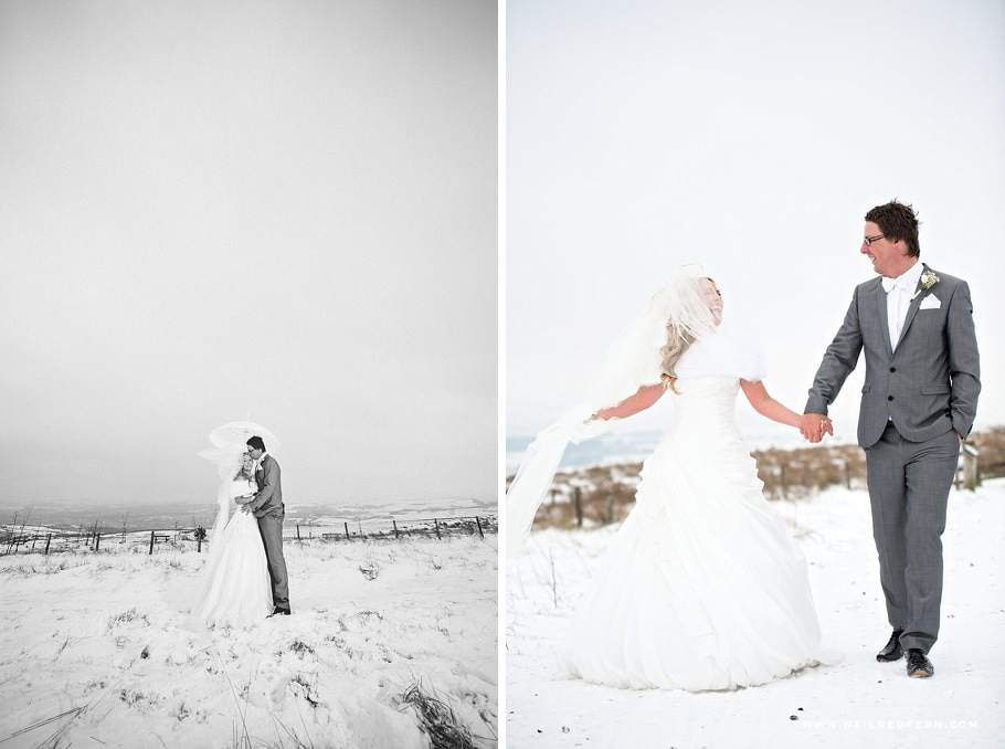 Wedding photographs in the snow 10
