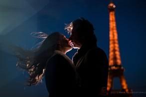 Portrait photograph in front of Eiffel Tower Paris