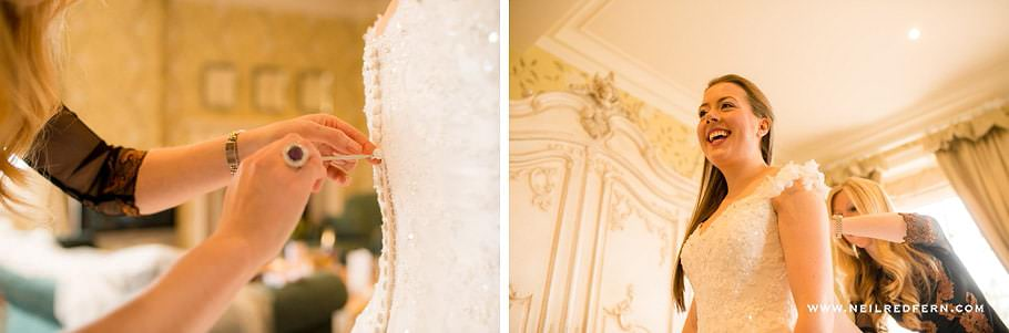 Wedding at Eaves Hall photograph 16