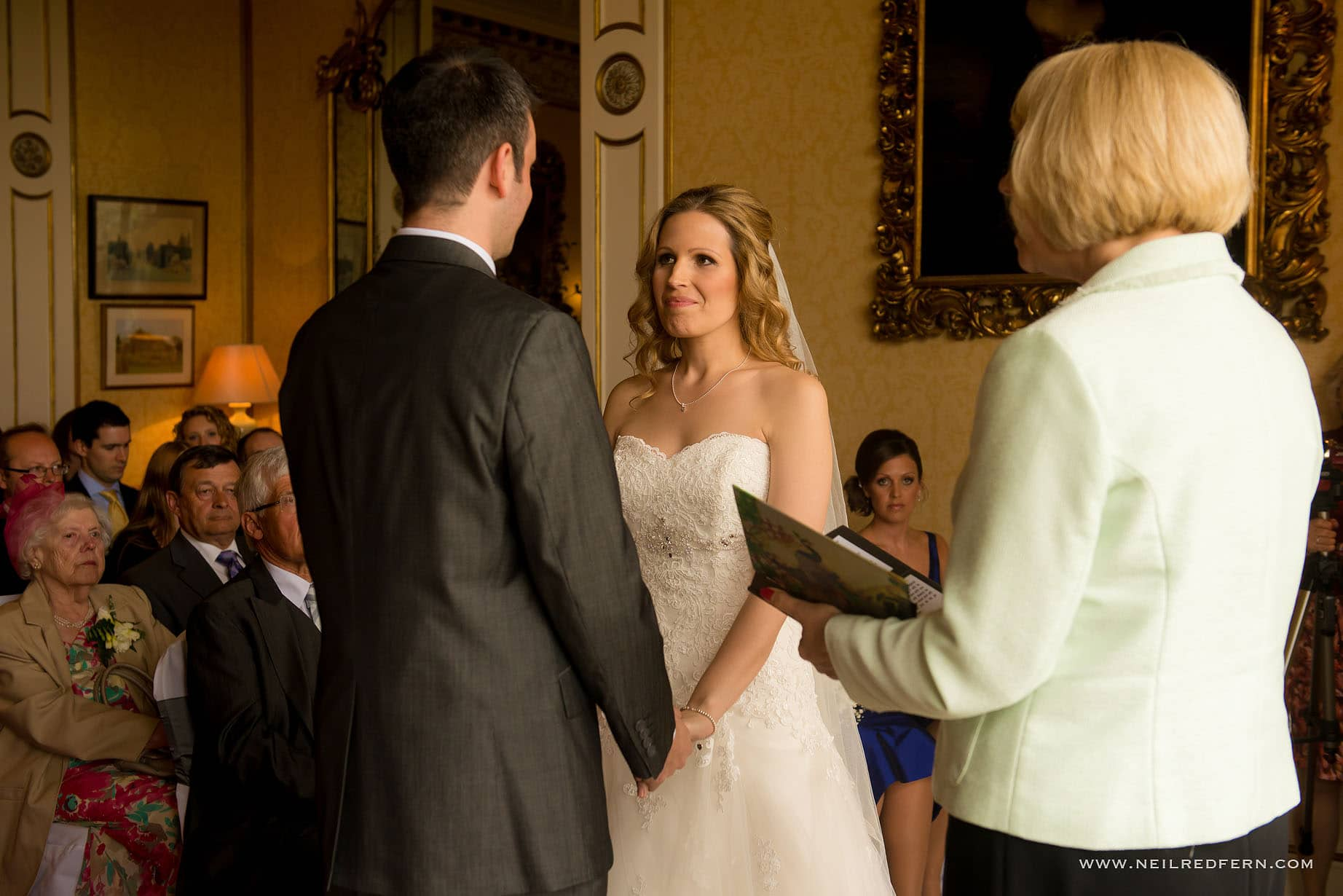 wedding ceremony at Arley Hall