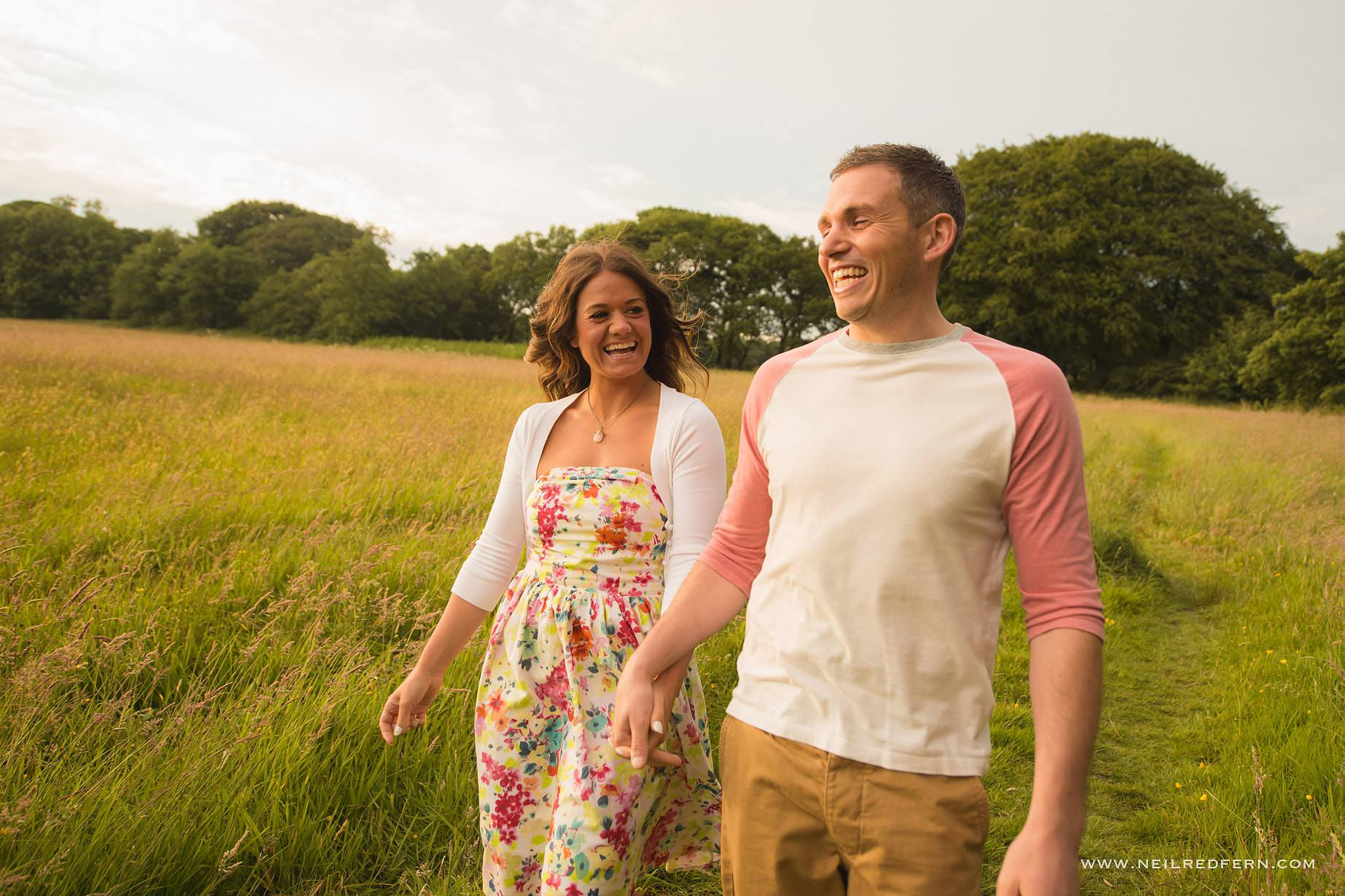 Rivington Hall Barn Engagement shoot 03