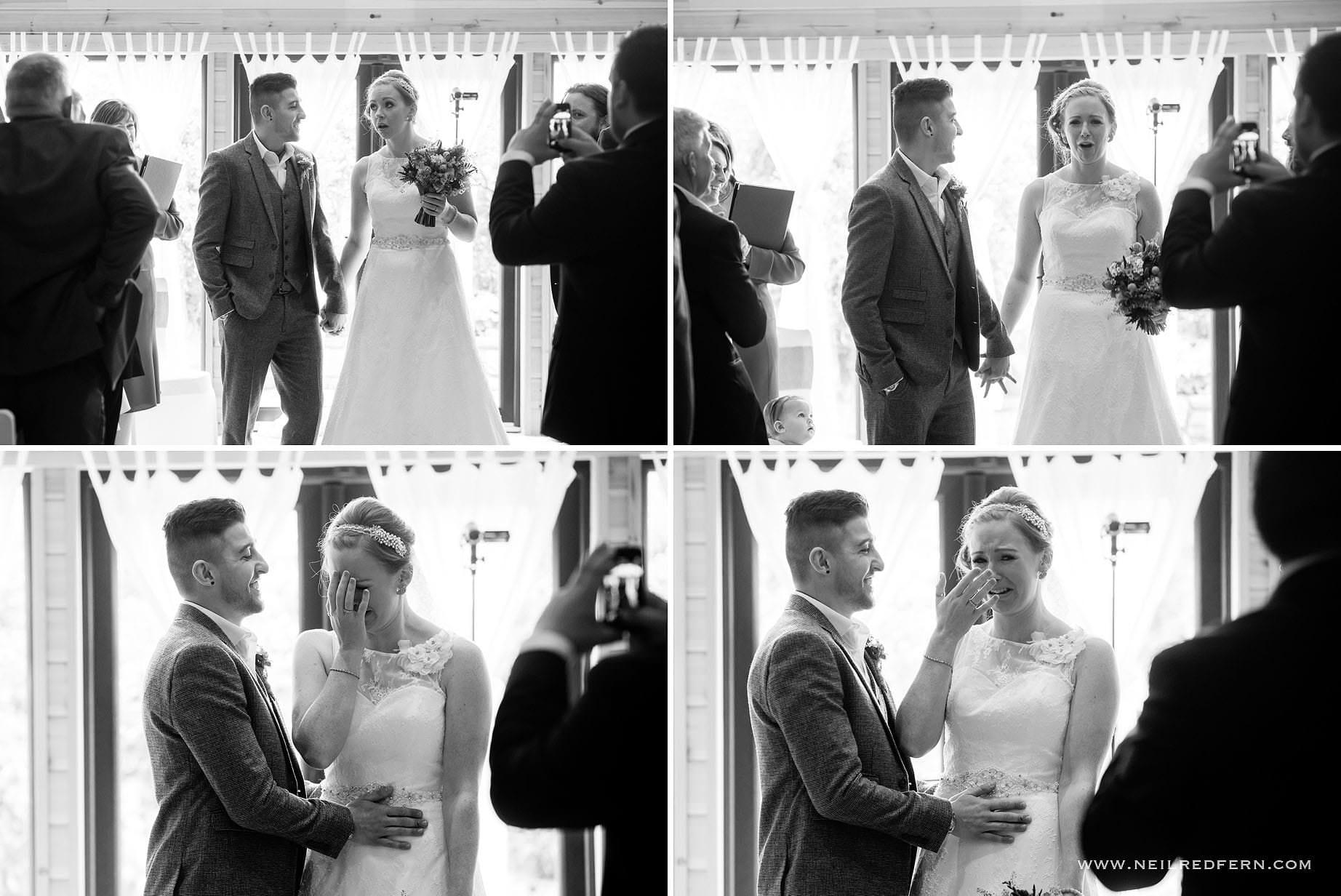 Suprised bride