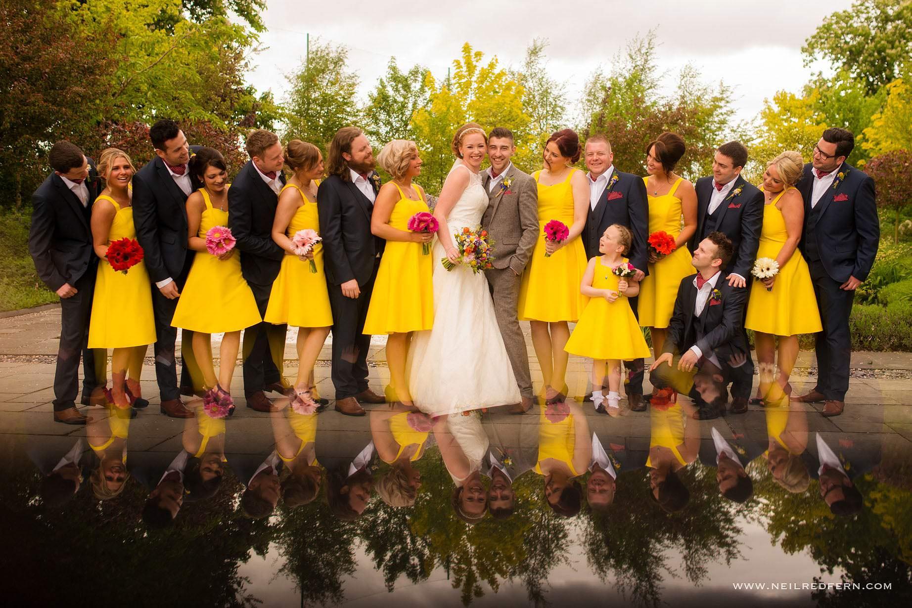 Bridal party group photograph