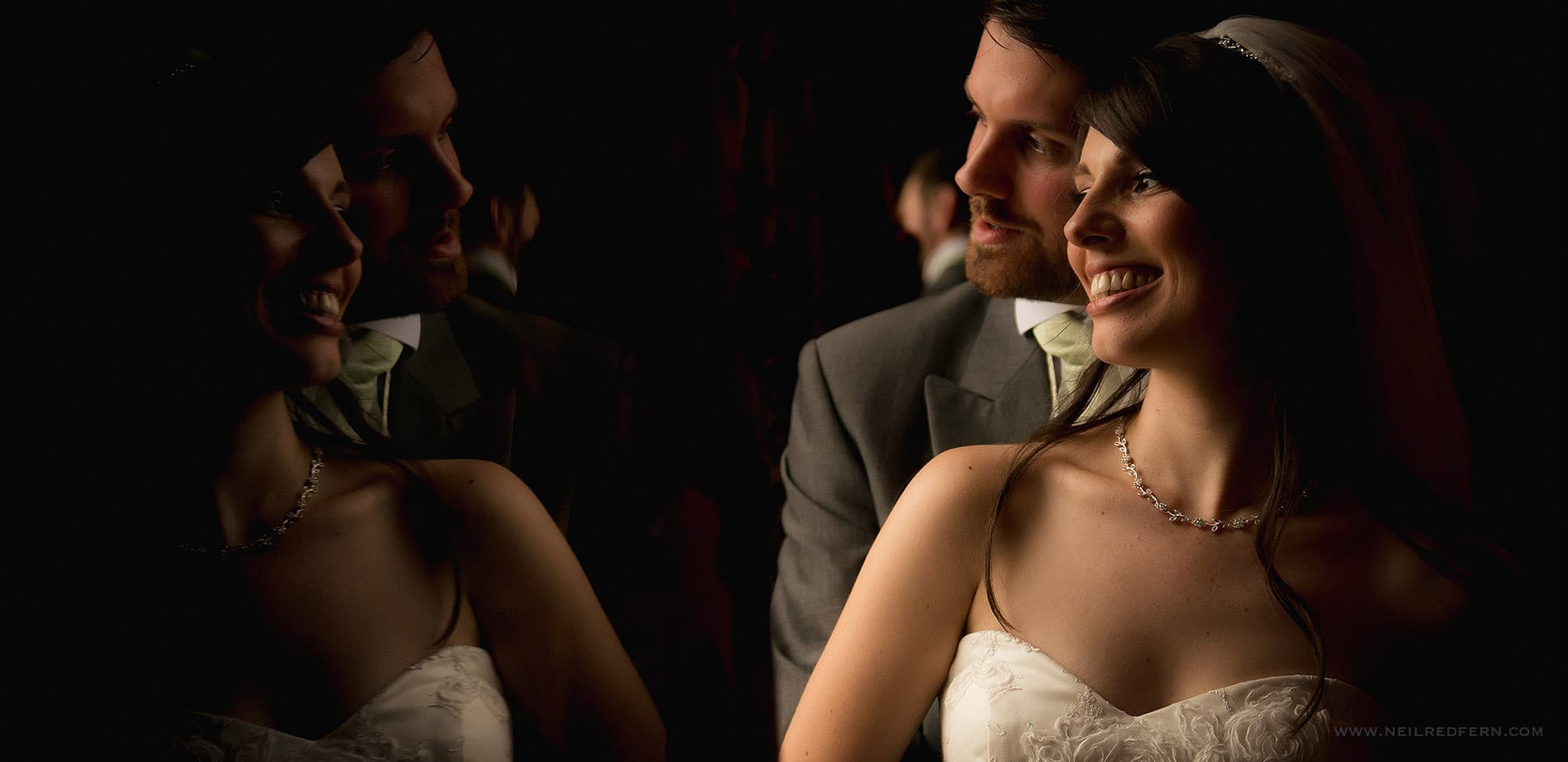 Photograph from wedding at Eaves Hall