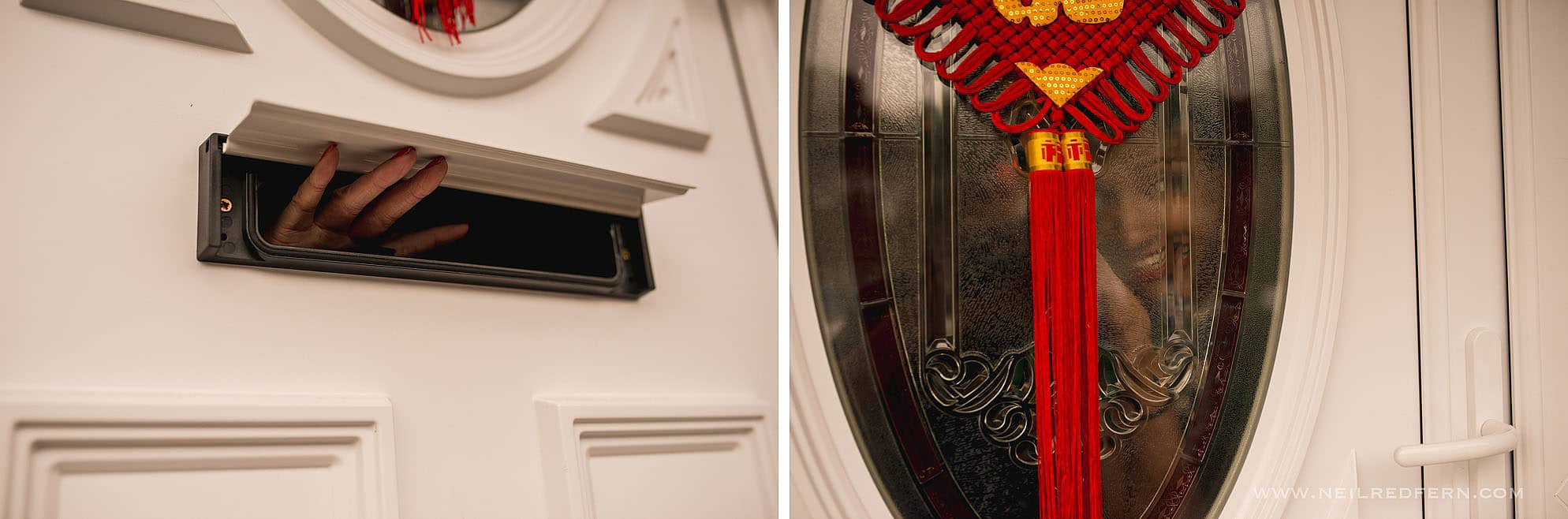hand through letterbox during Chinese door games