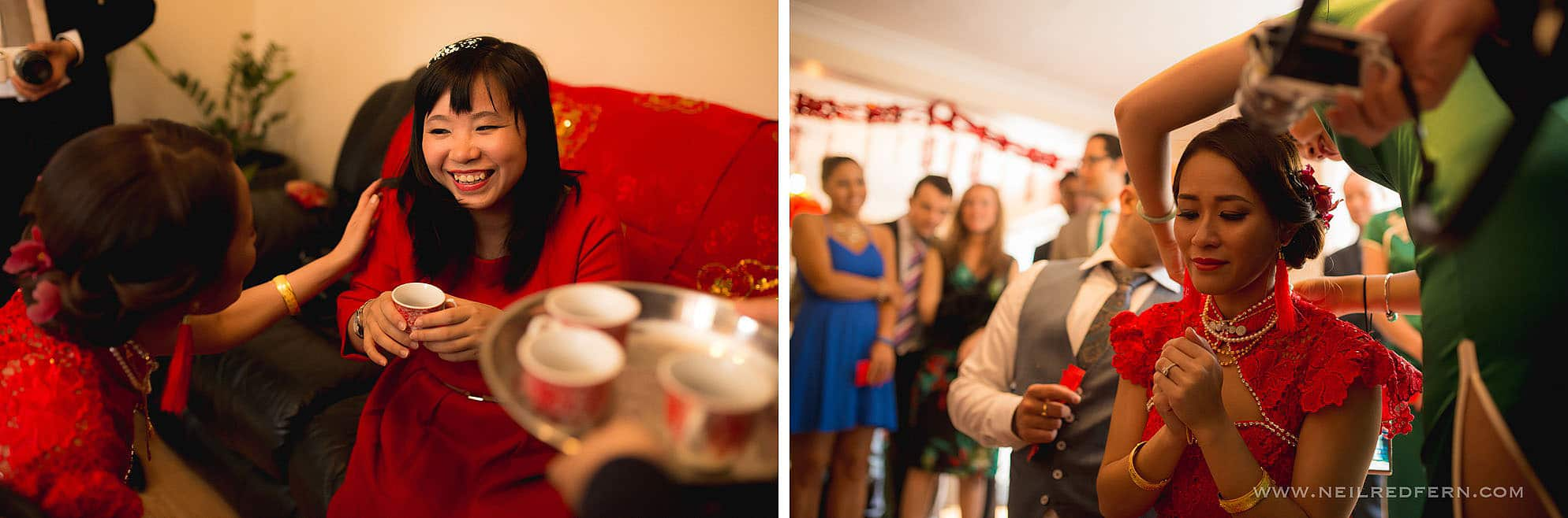 special moment during Chinese tea ceremony