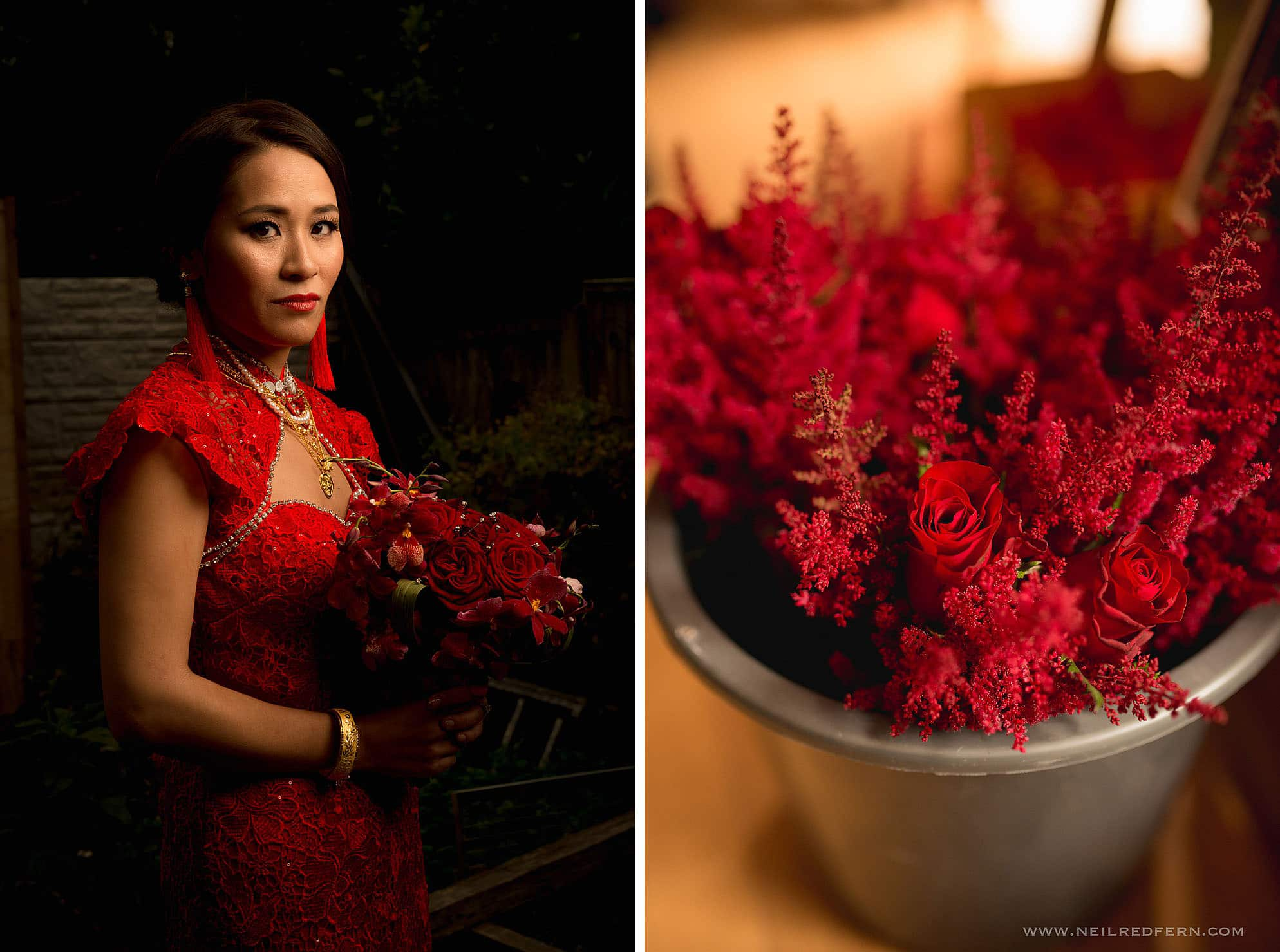 formal photograph of Chinese bride