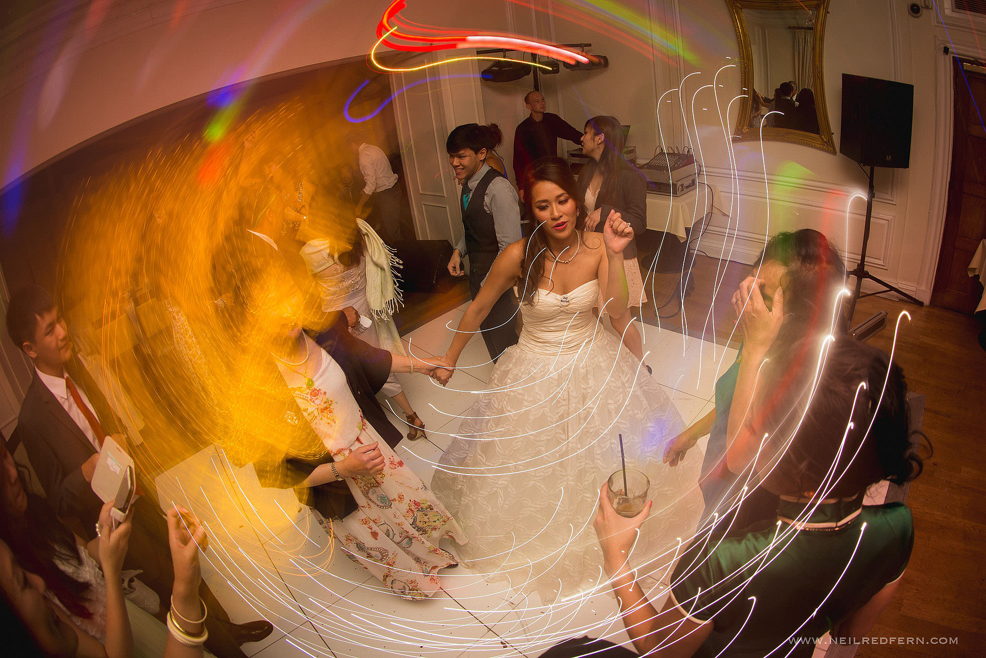 dancing at West Tower wedding
