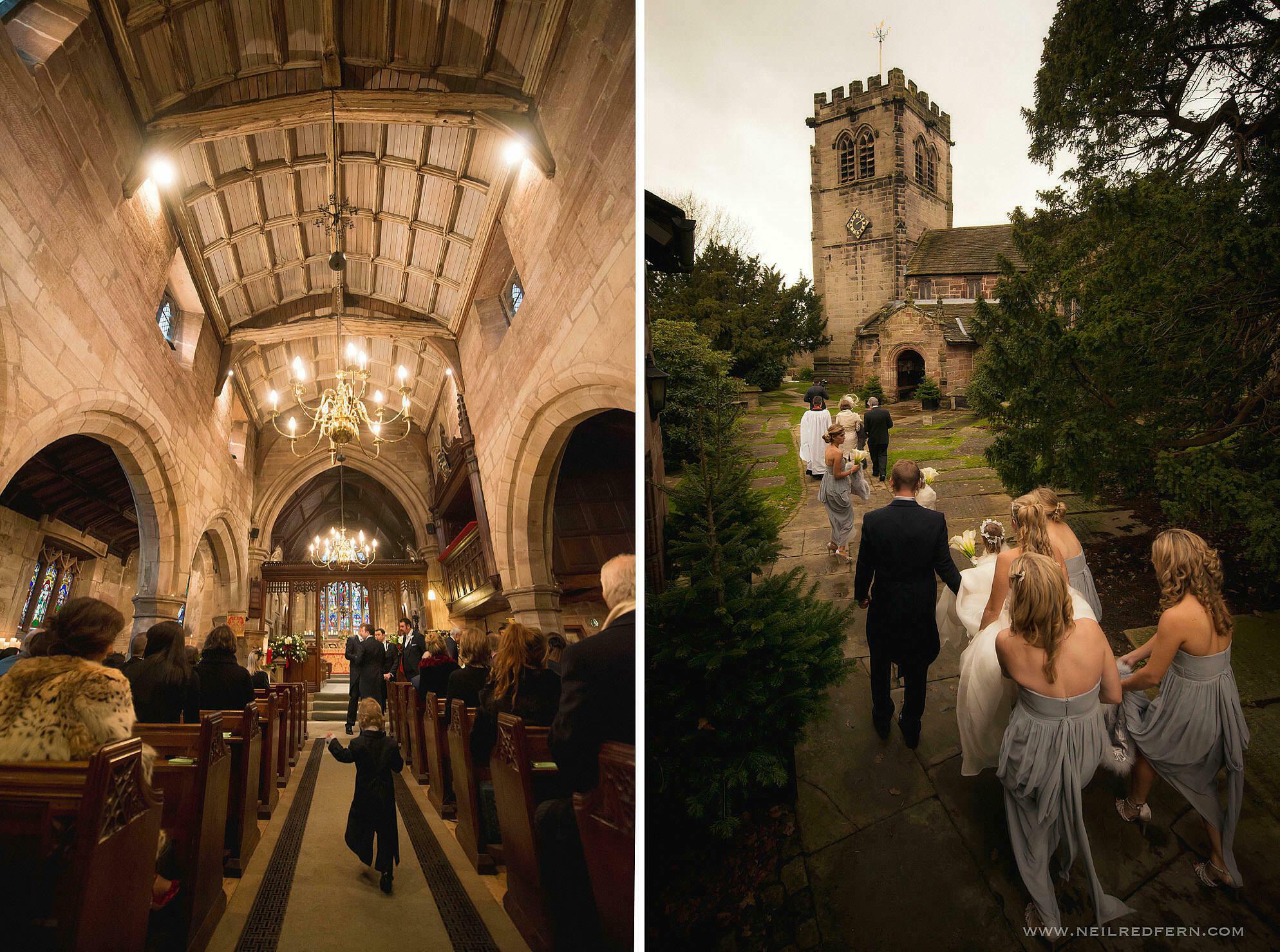 St Mary's Church Nether Alderley wedding 01