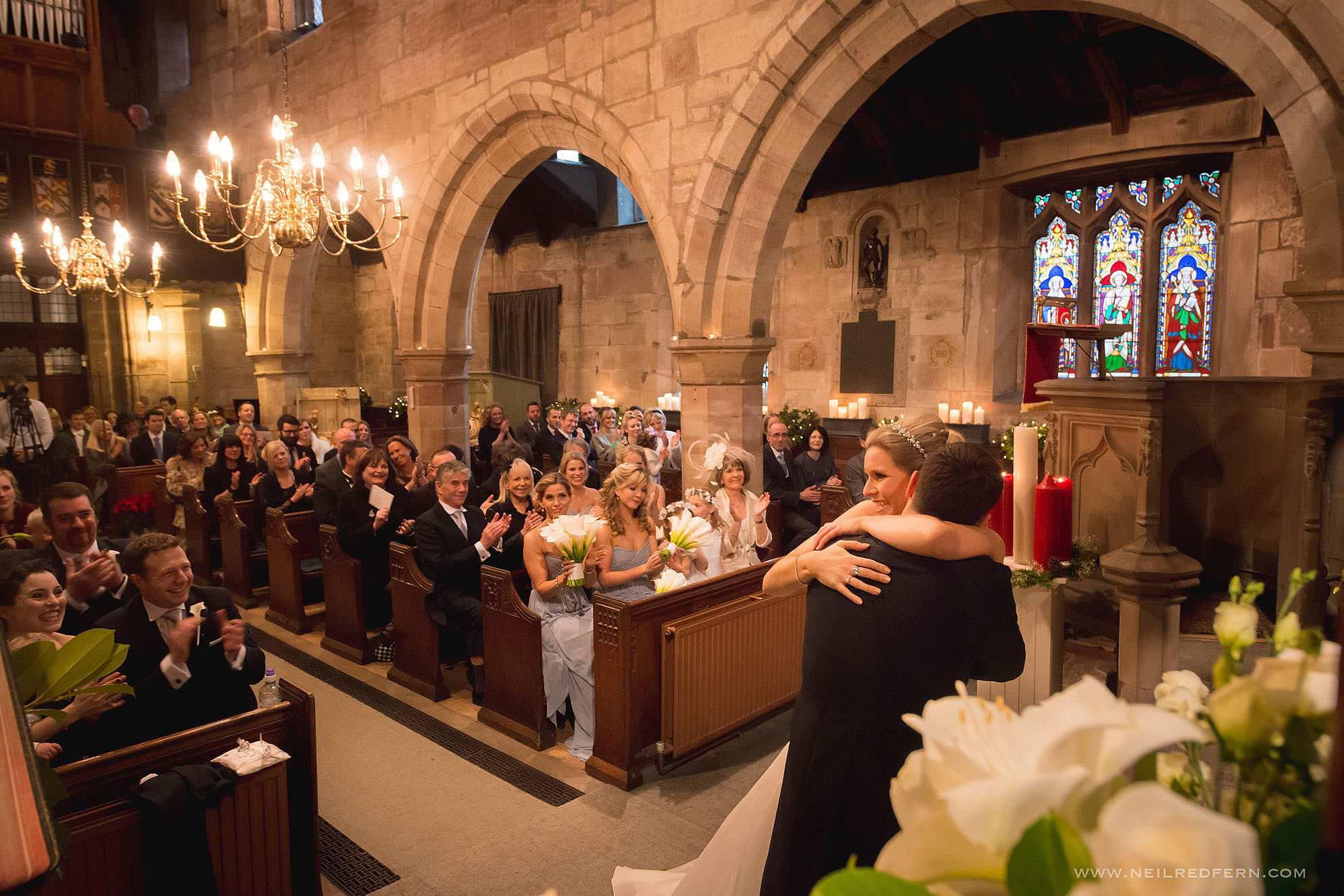 St Mary's Church Nether Alderley wedding 05