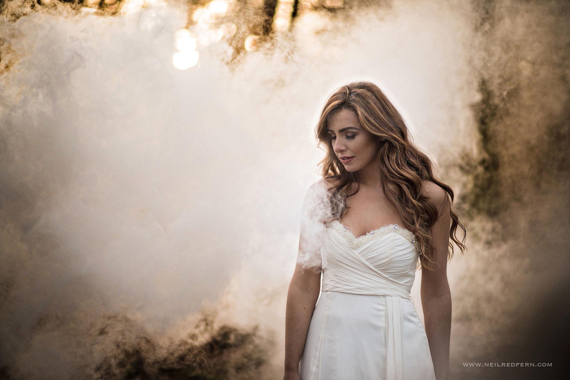 Portrait of bride at Alderely Edge 04