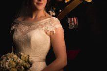 bride and groom portrait photograph at Gibbon Bridge Hotel