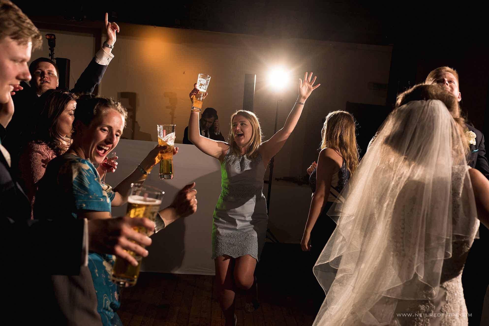 guests dancing at Samlesbury Hall
