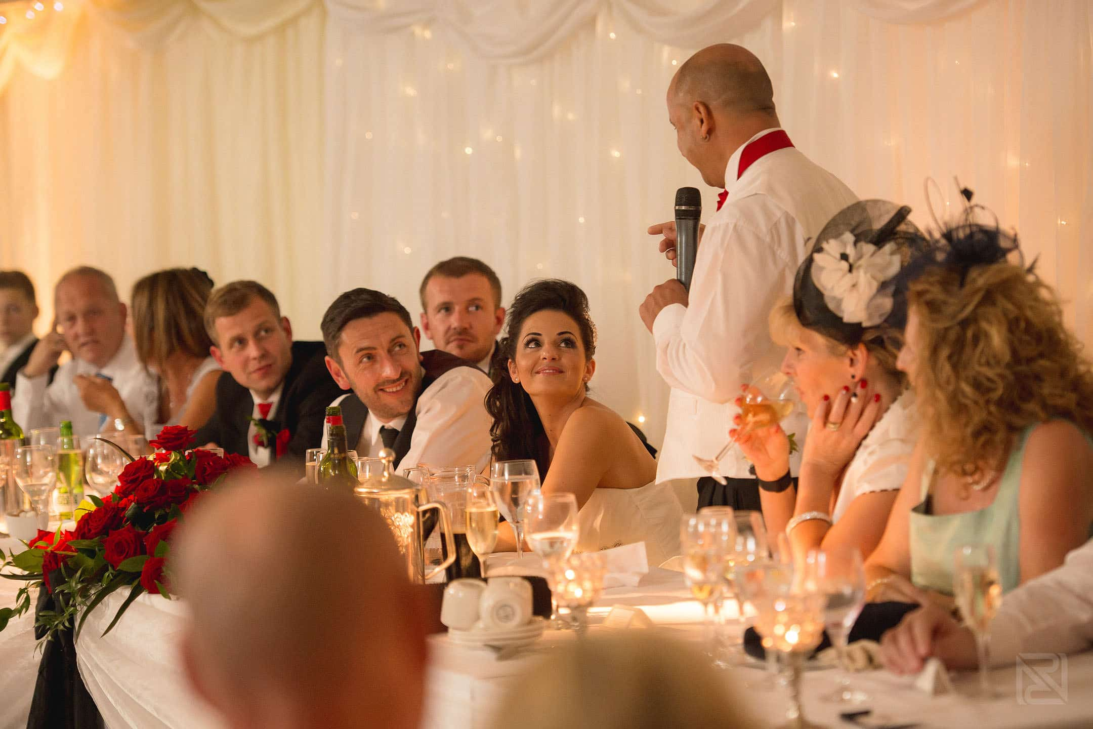 wedding speeches at the inn at whitewell in Lancashire