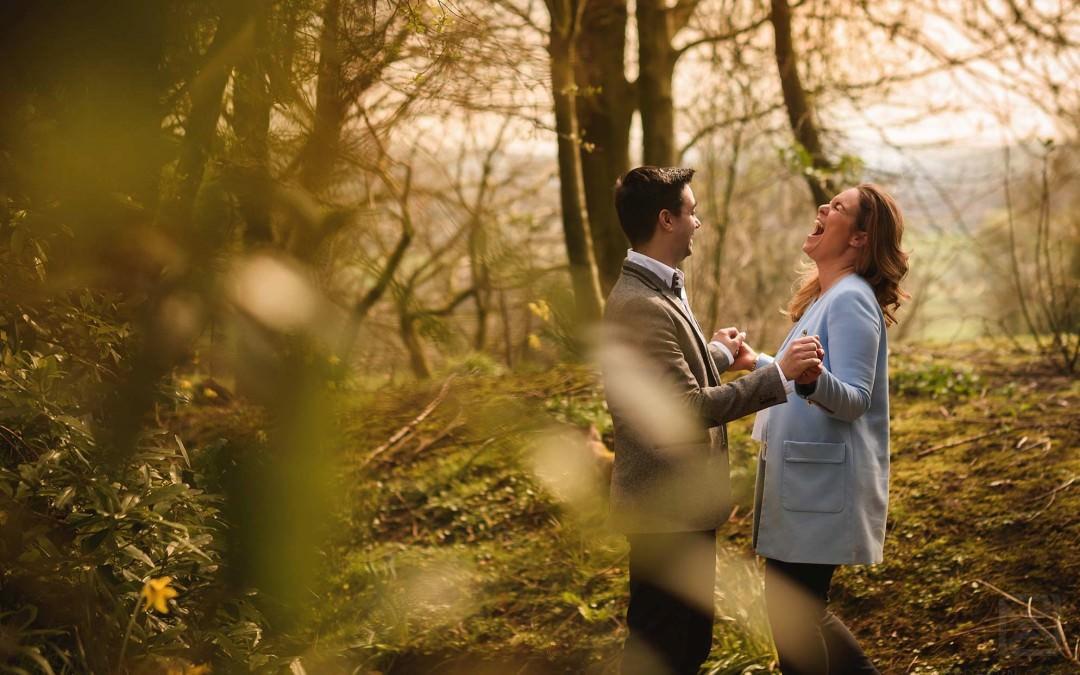 Eaves Hall engagement shoot – Francesca & Prashant
