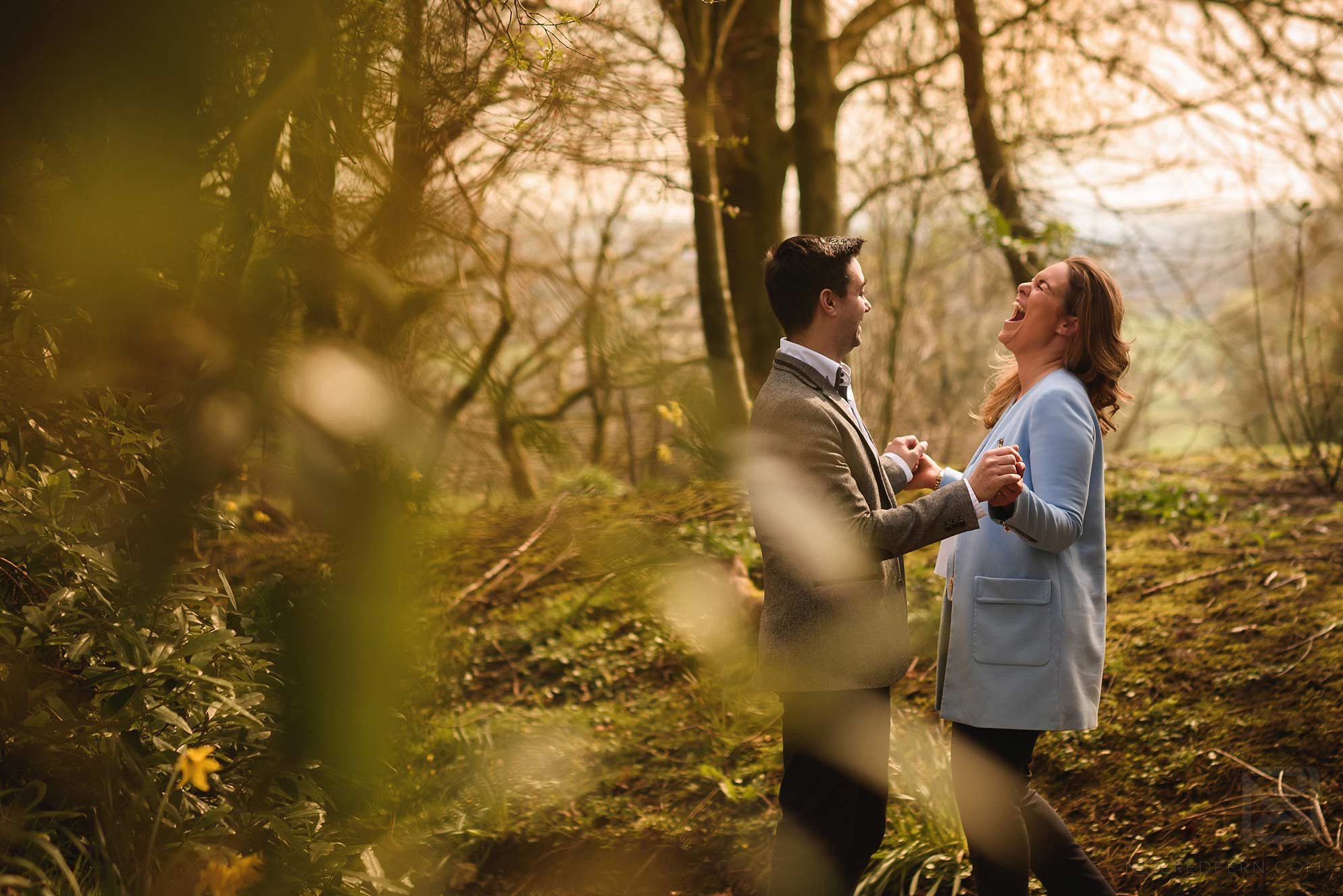 engagement shoot photograph in Lancashire