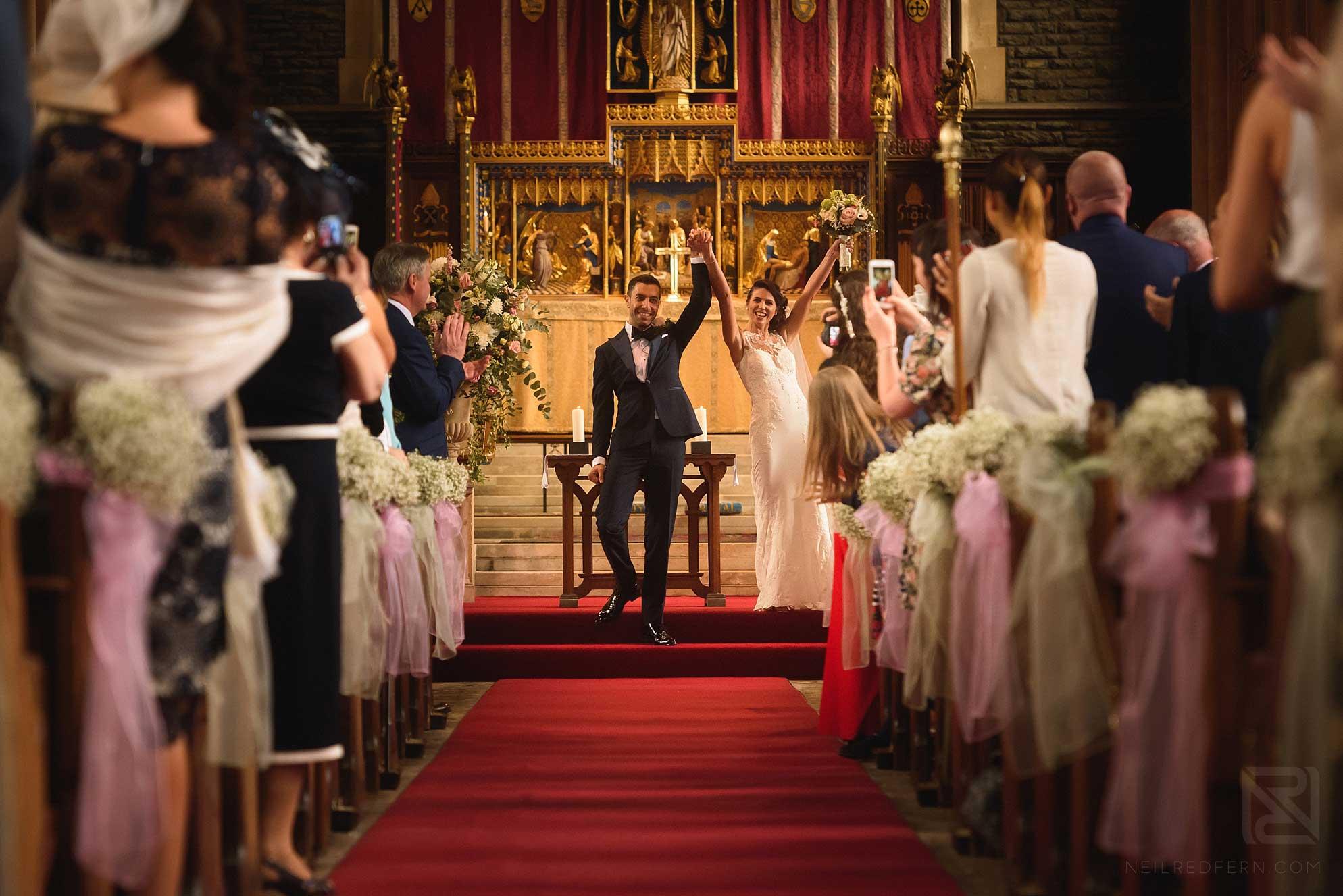 Aberystwyth church wedding photograph