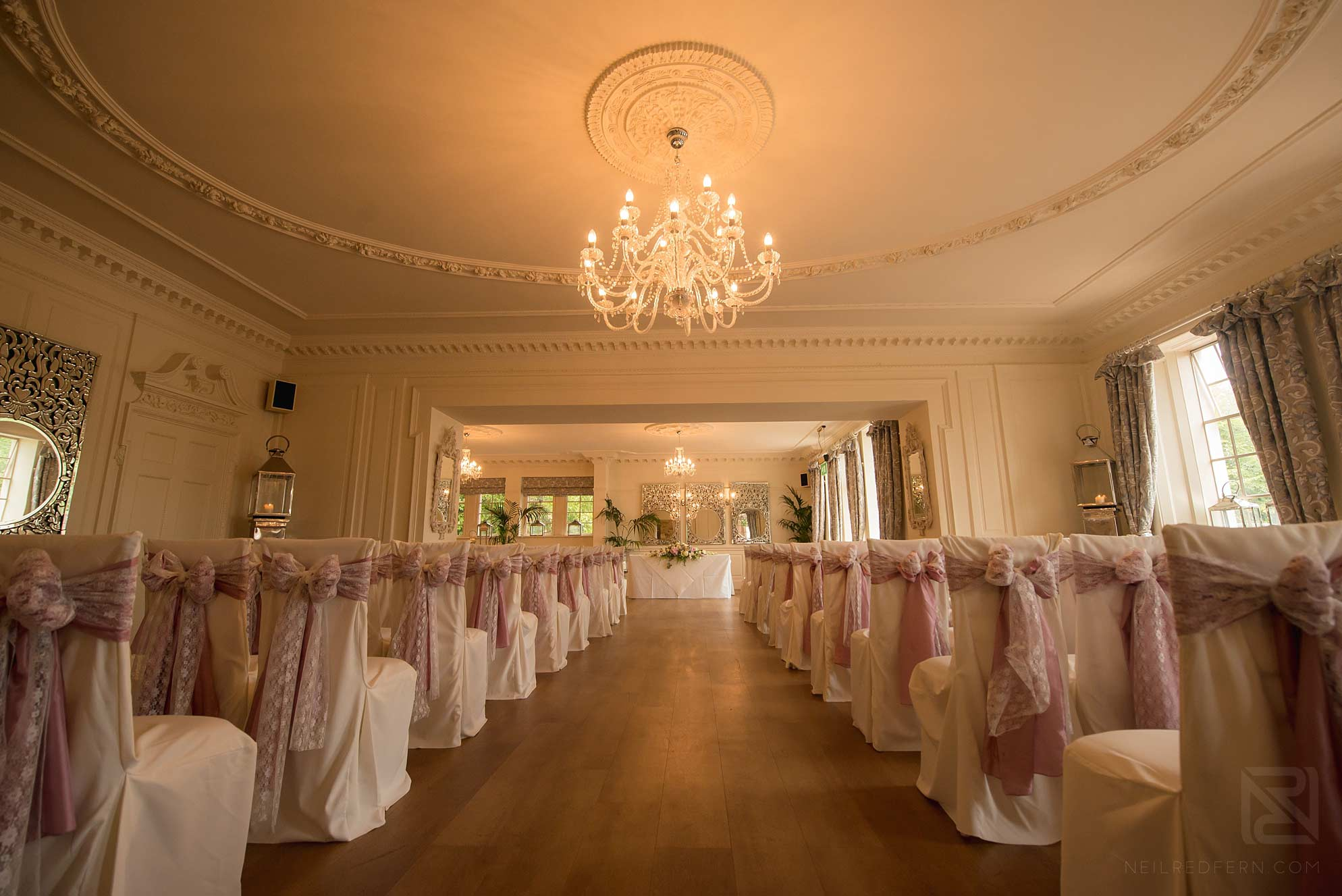Wedding-ceremony-at-Eaves-Hall