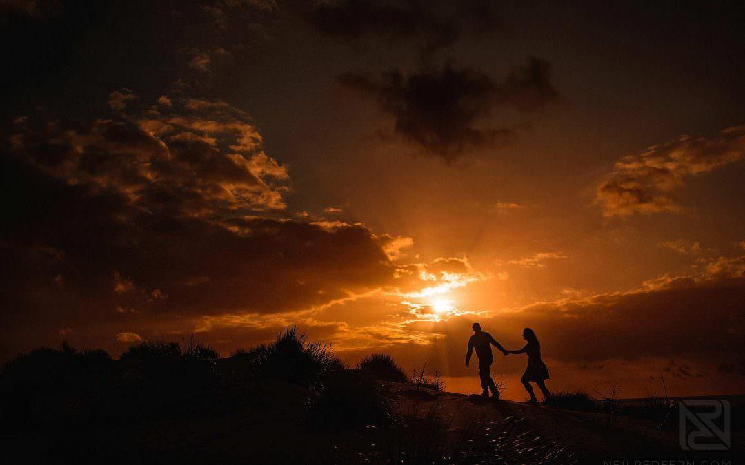Formby beach portrait shoot – Yioda & Matt