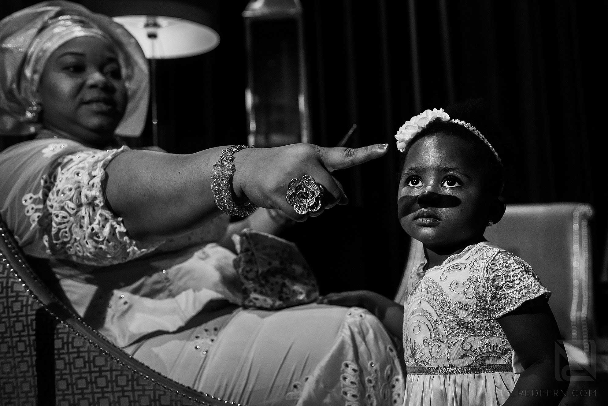 baby at Nigerian wedding