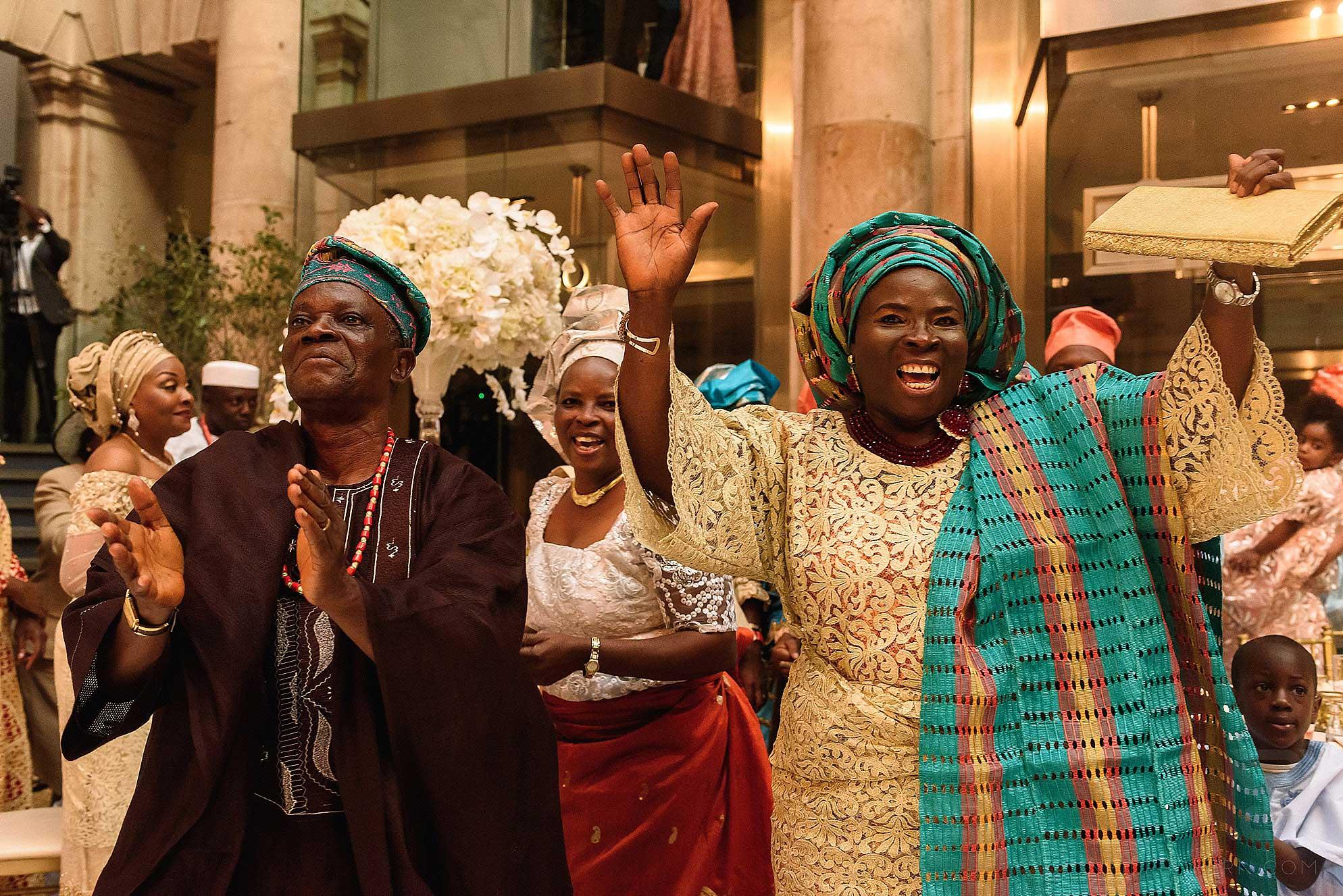 guests dancing at Nigerian wedding