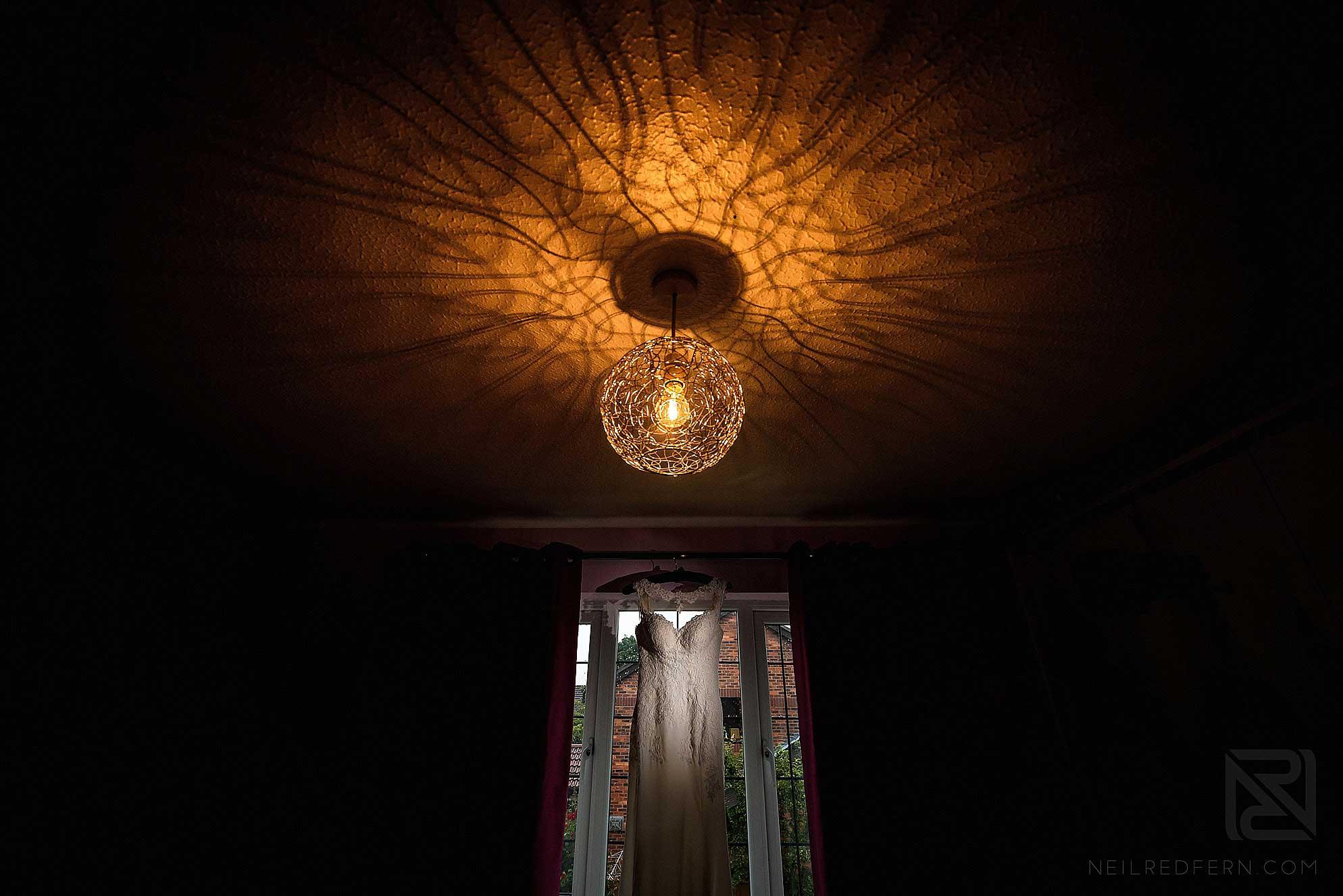 creative photograph of wedding dress