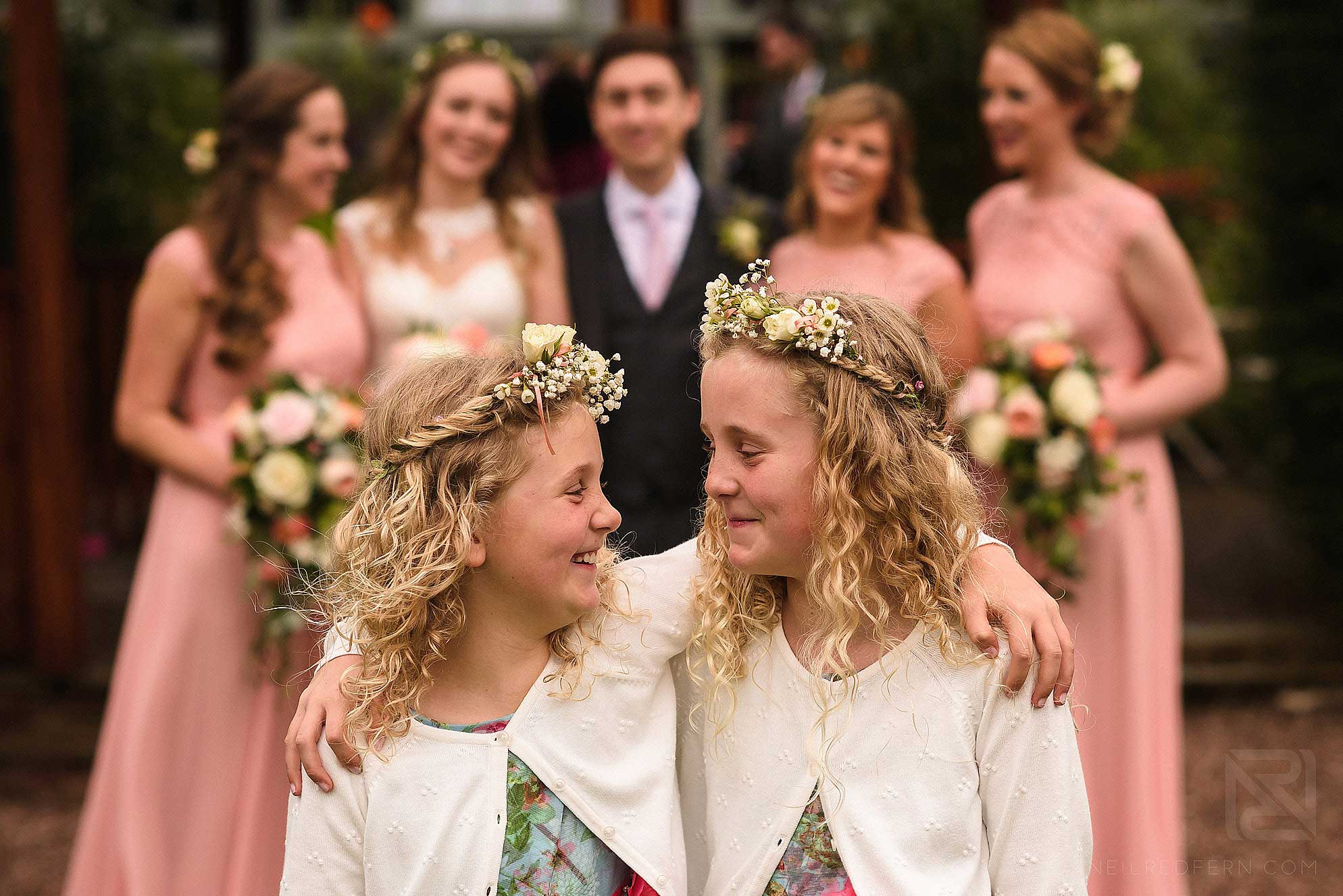 photograph of flowergirls