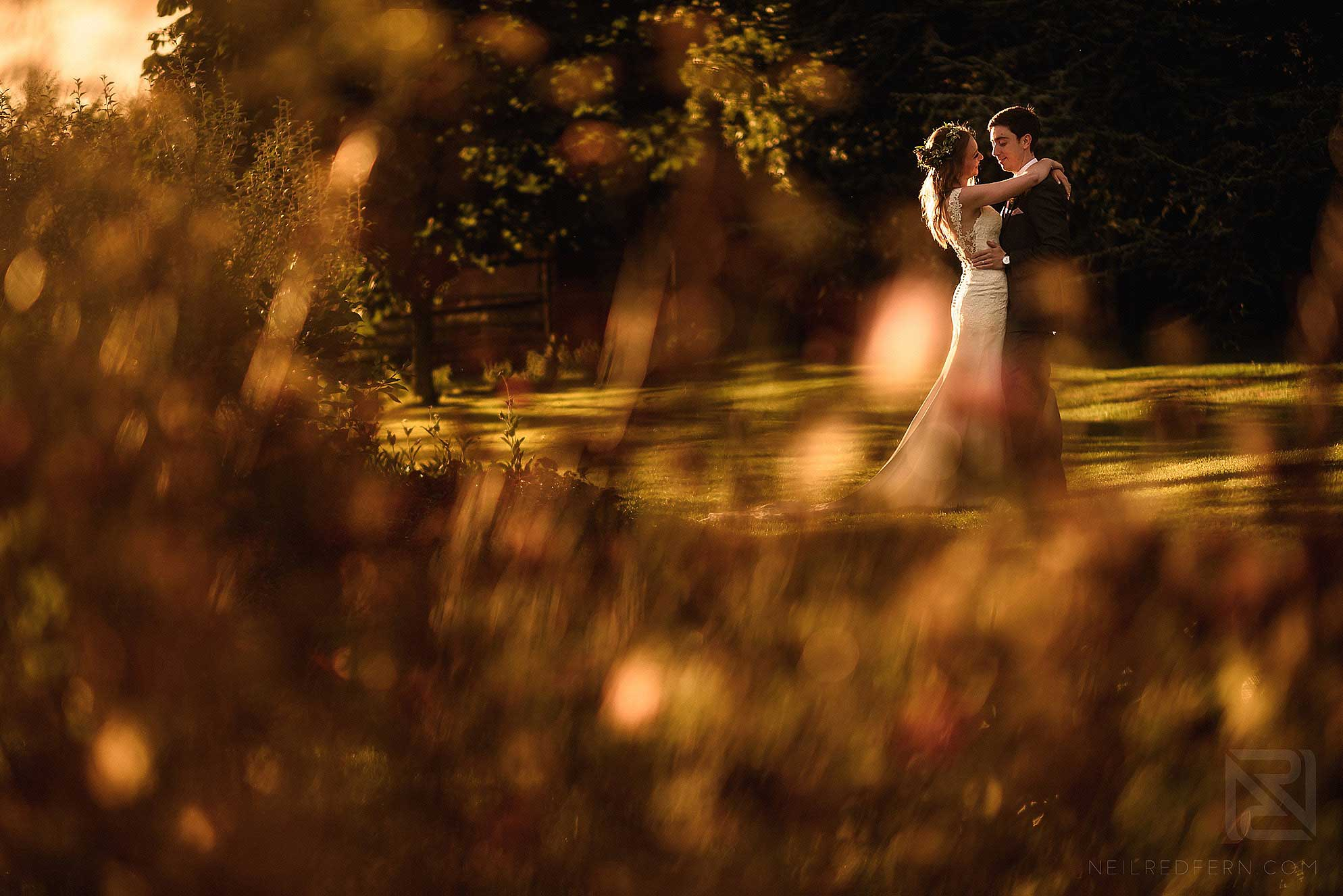 bride and groom photograph at Abbeywood Estate