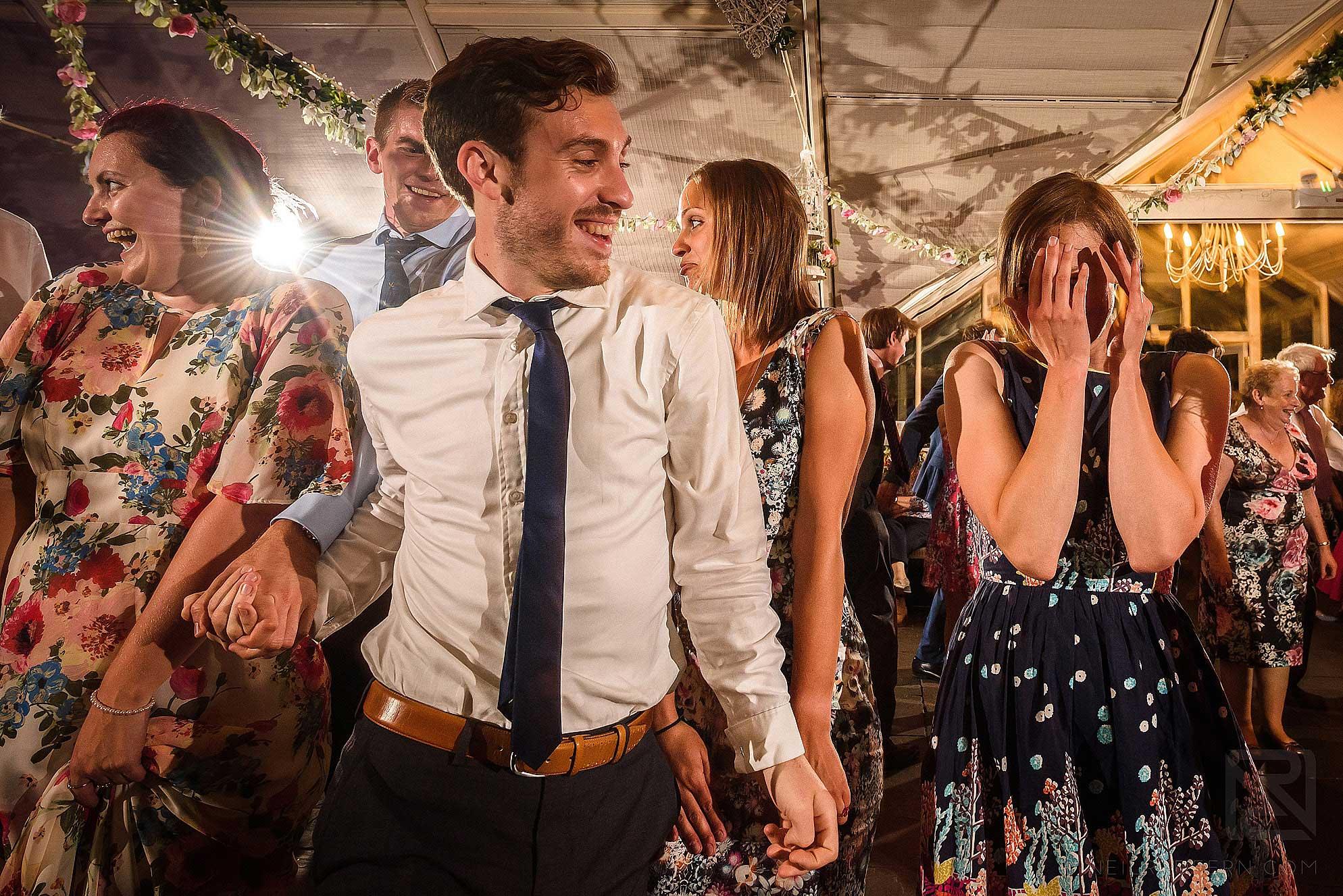 Cèilidh dancing at wedding