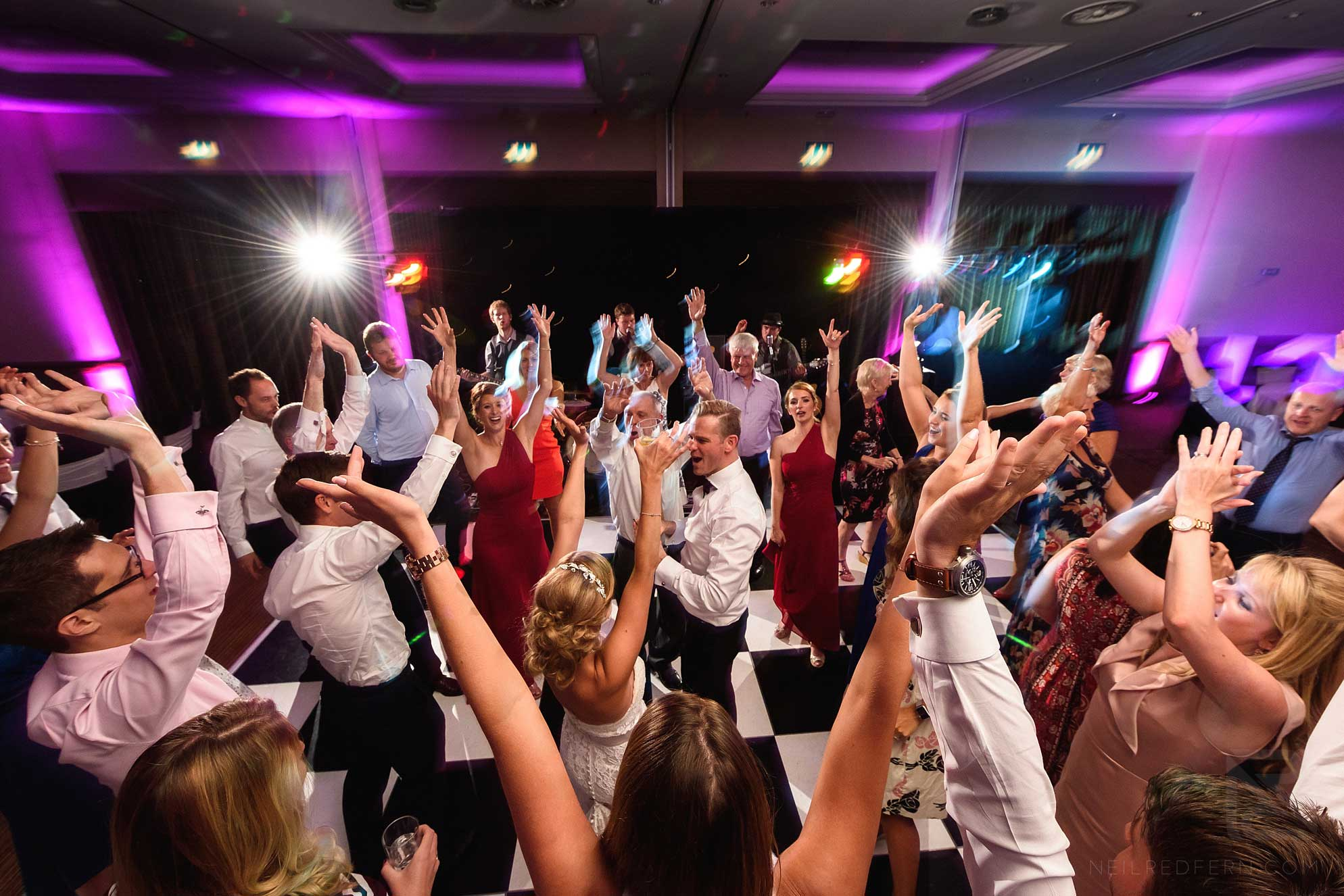 dancing at Crewe Hall wedding reception