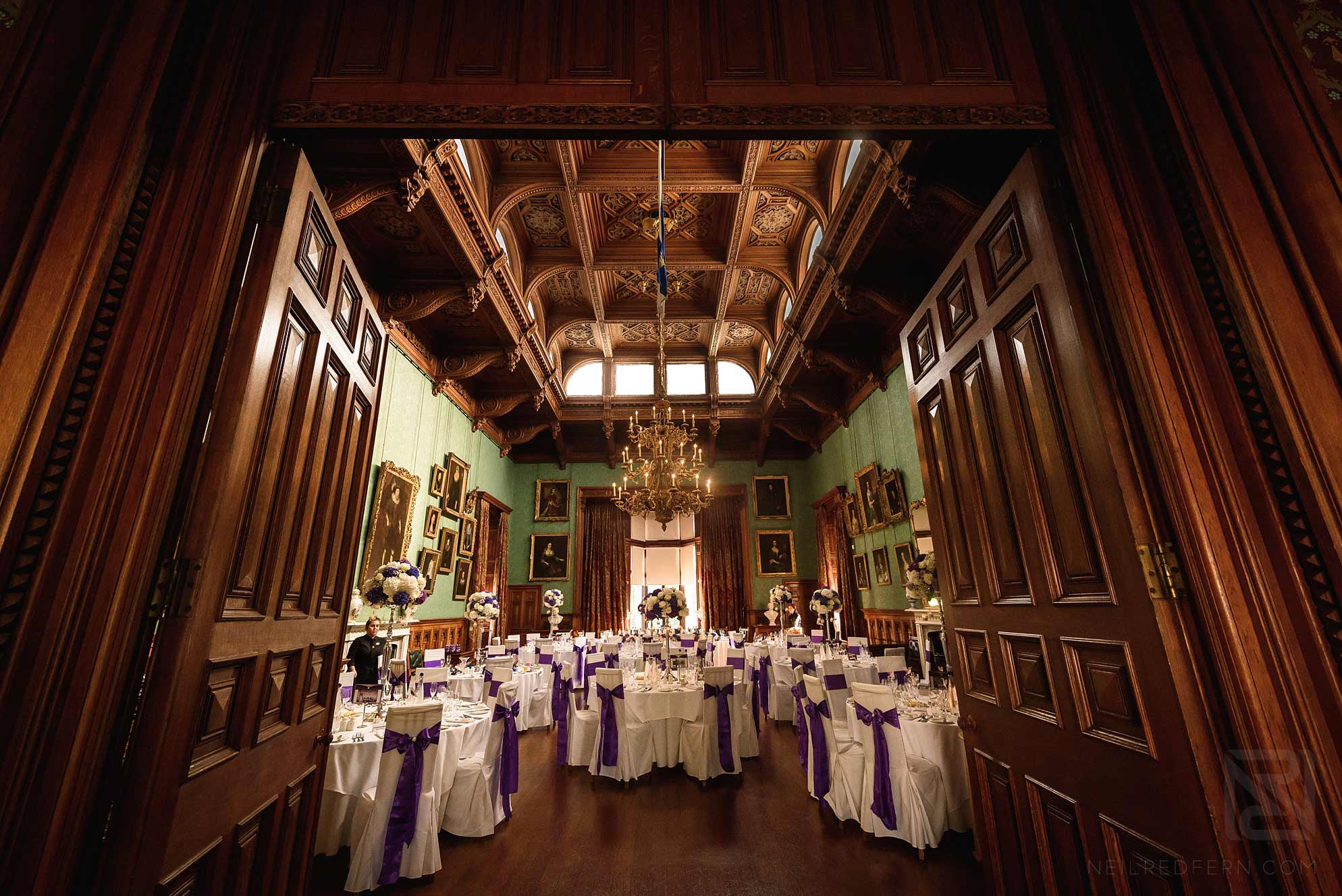 wedding breakfast room at knowsley hall