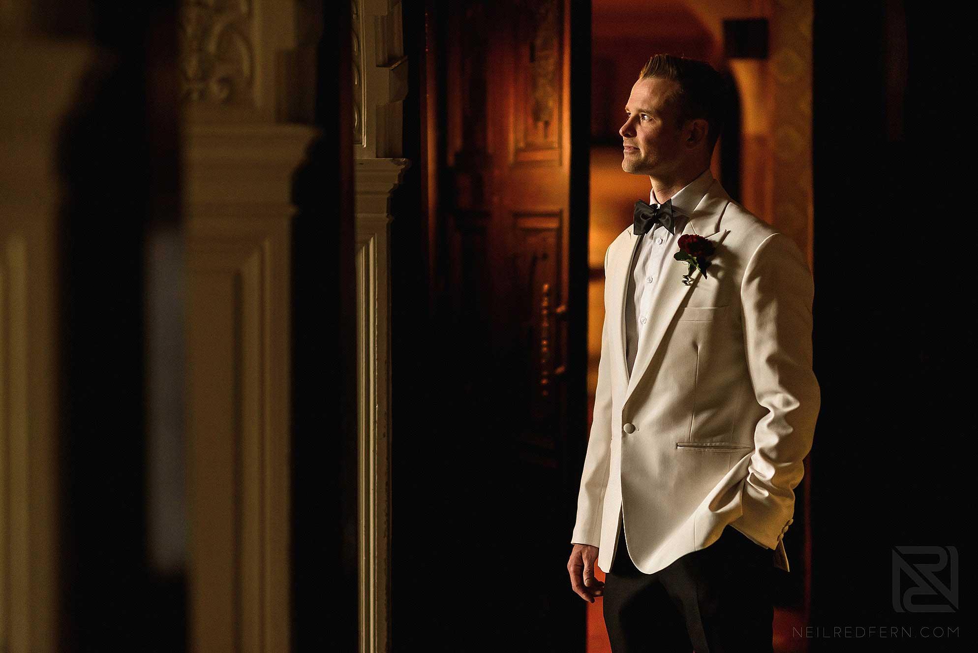 creative photograph of groom