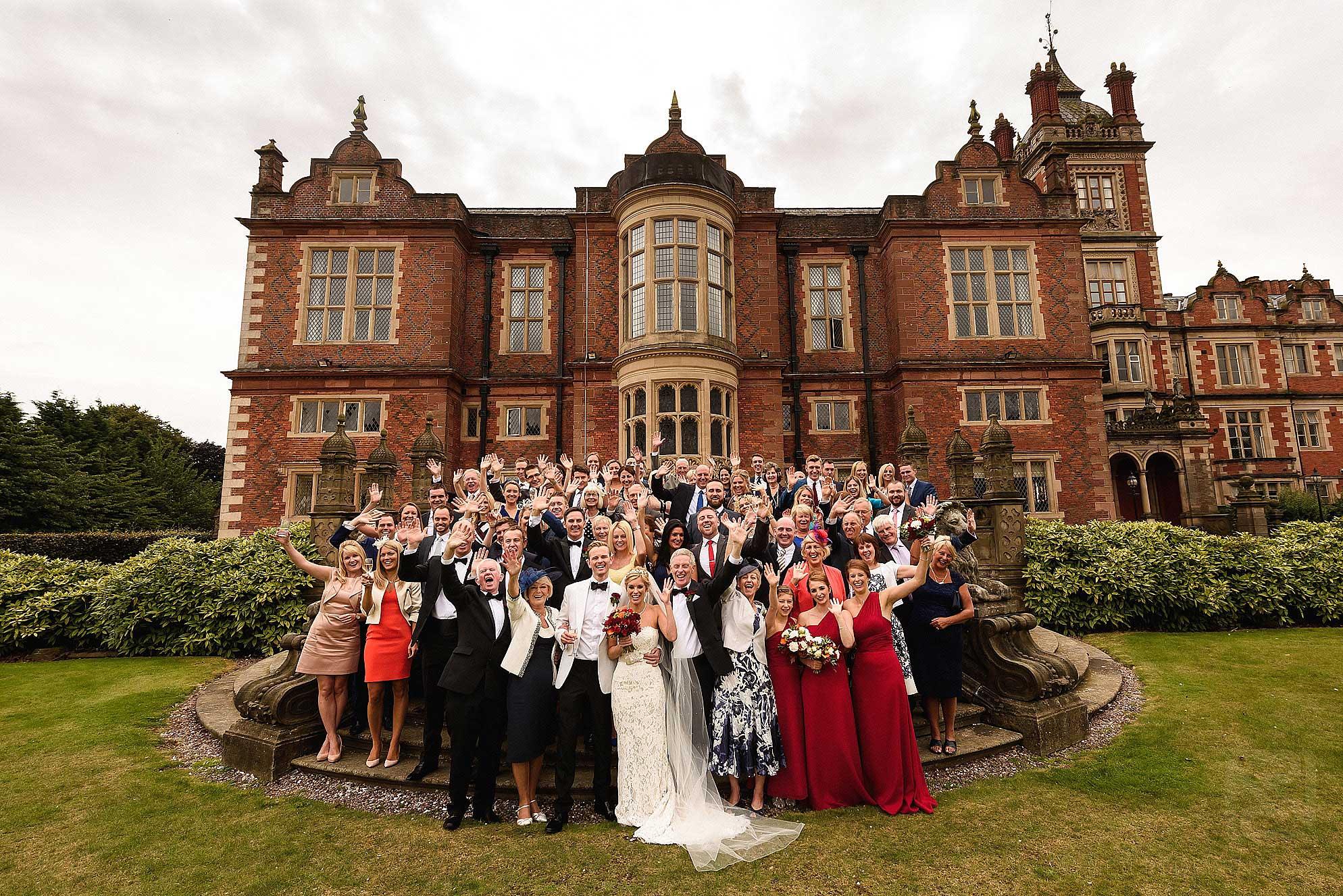 large group photograph outside Crewe Hall
