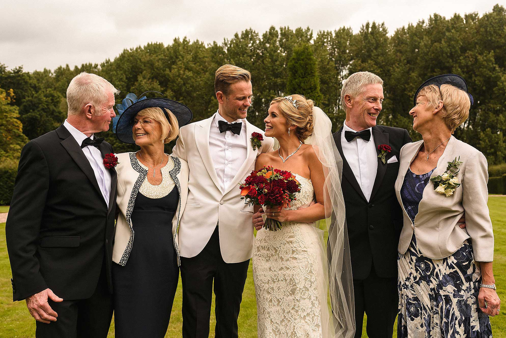 bride and groom with their parents