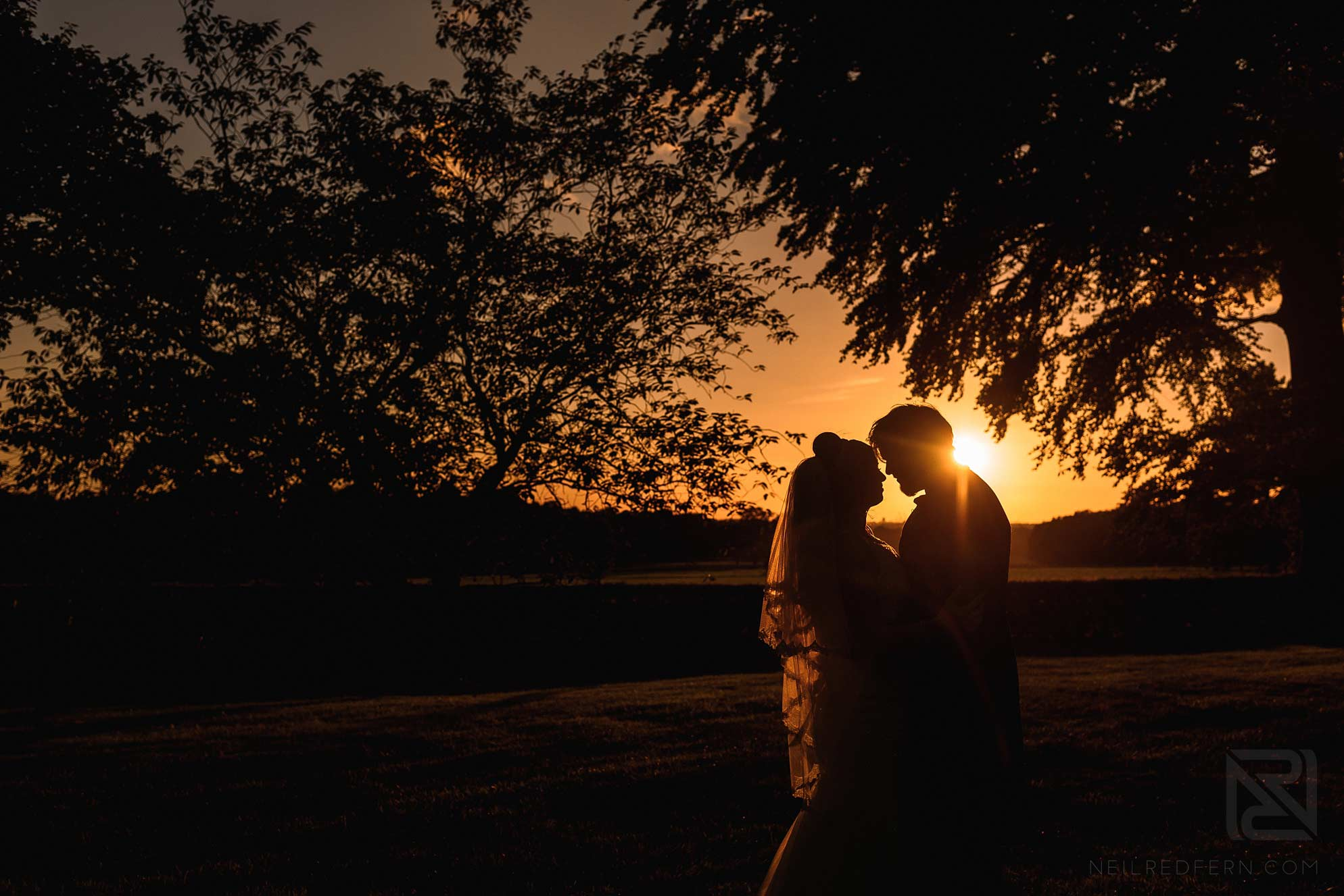 summer wedding photograph at Knowsley Hall