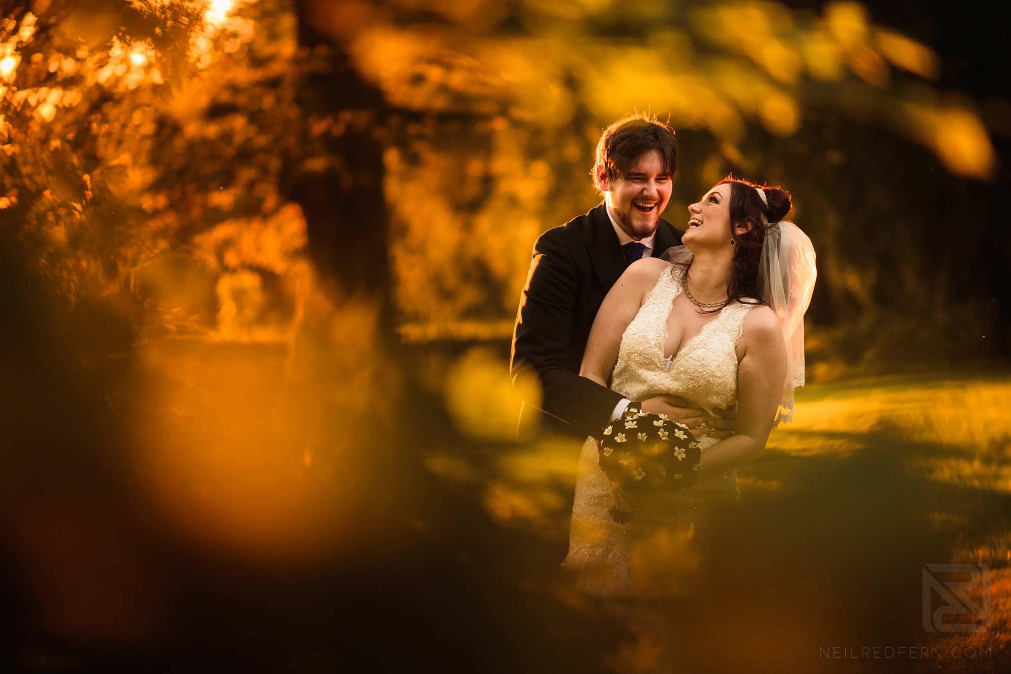summer wedding photograph of newlyweds