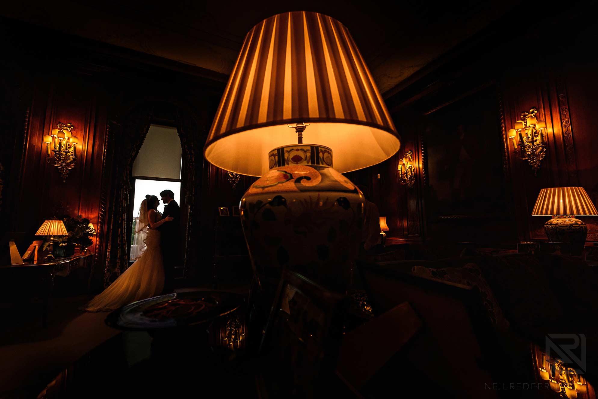 creative indoor wedding photograph