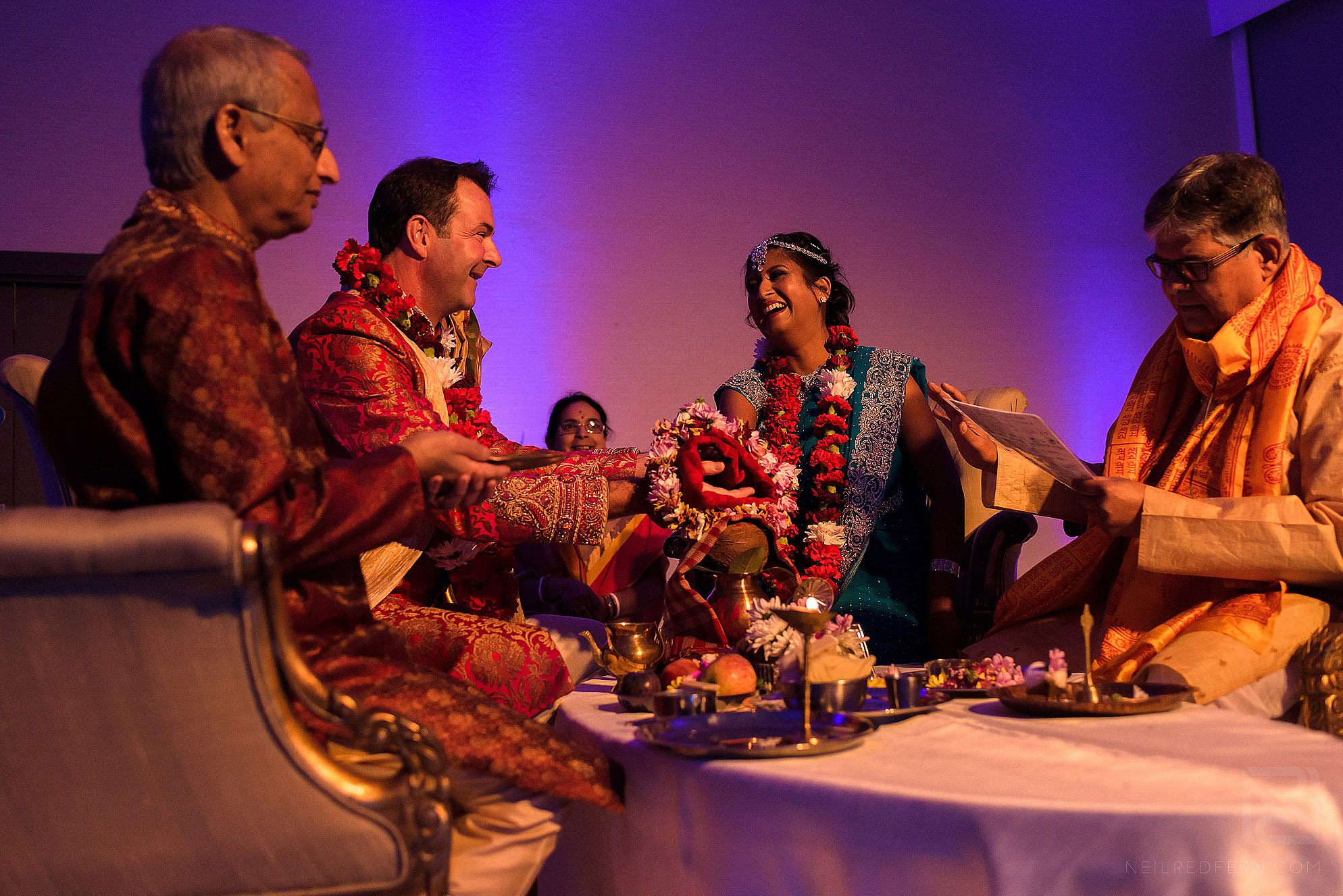 photograph of Hindu wedding service