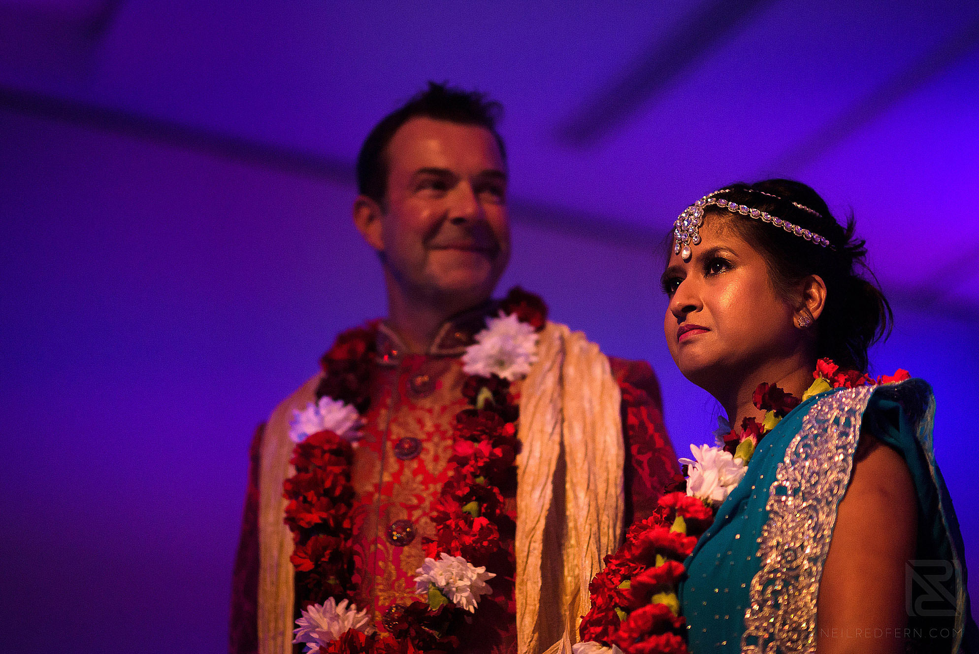 Hindu bride and groom during wedding ceremony