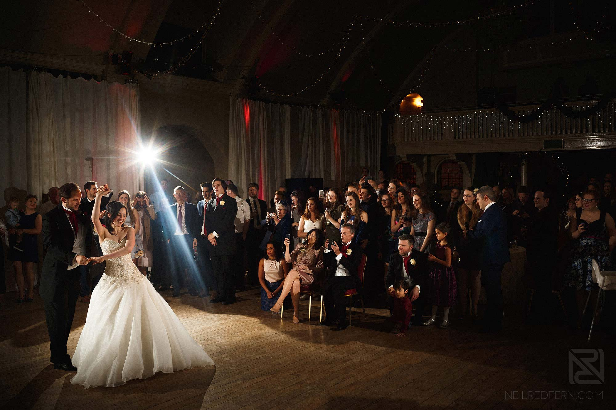 wedding first dance at The Bowdon Rooms
