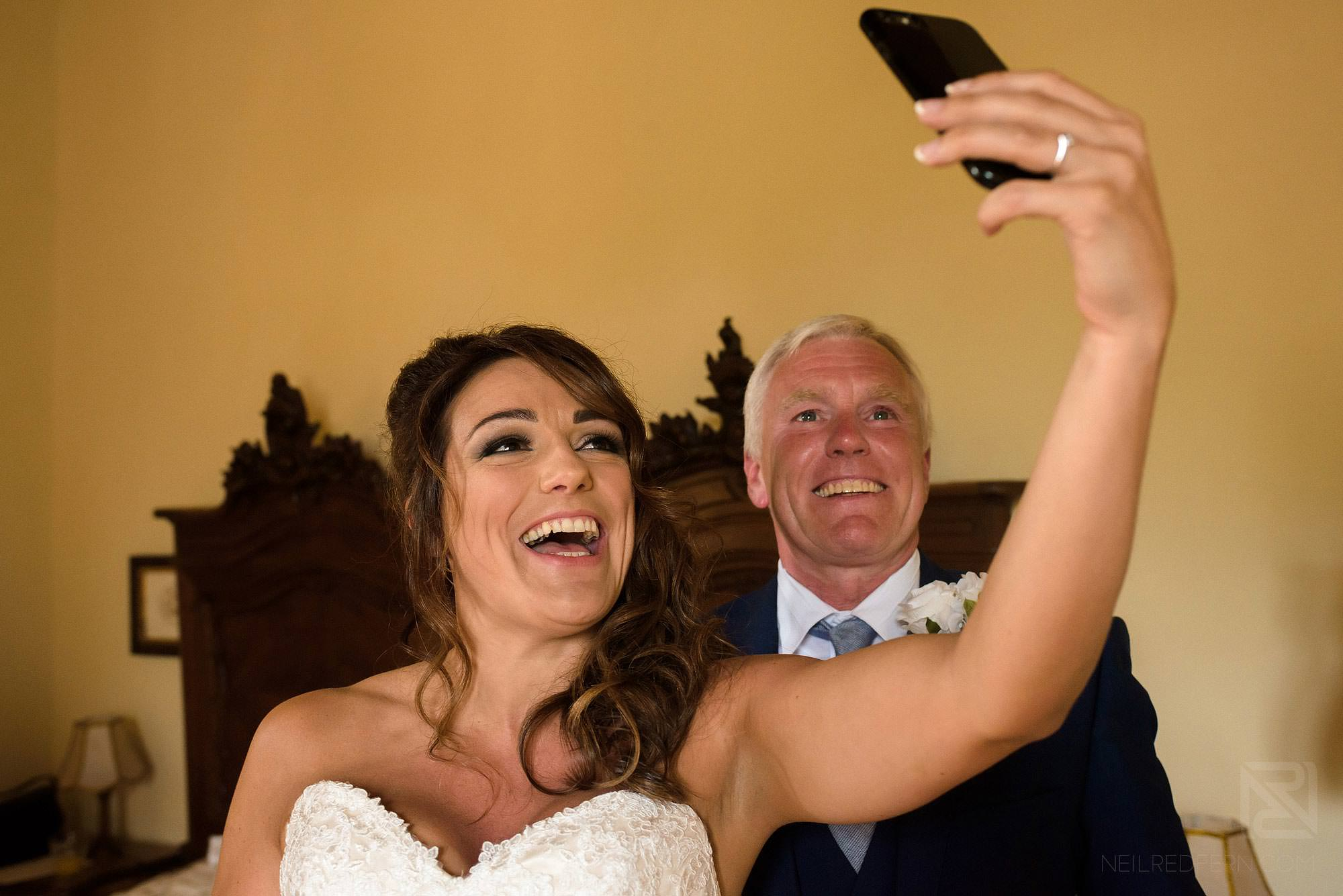 bride taking a selfie