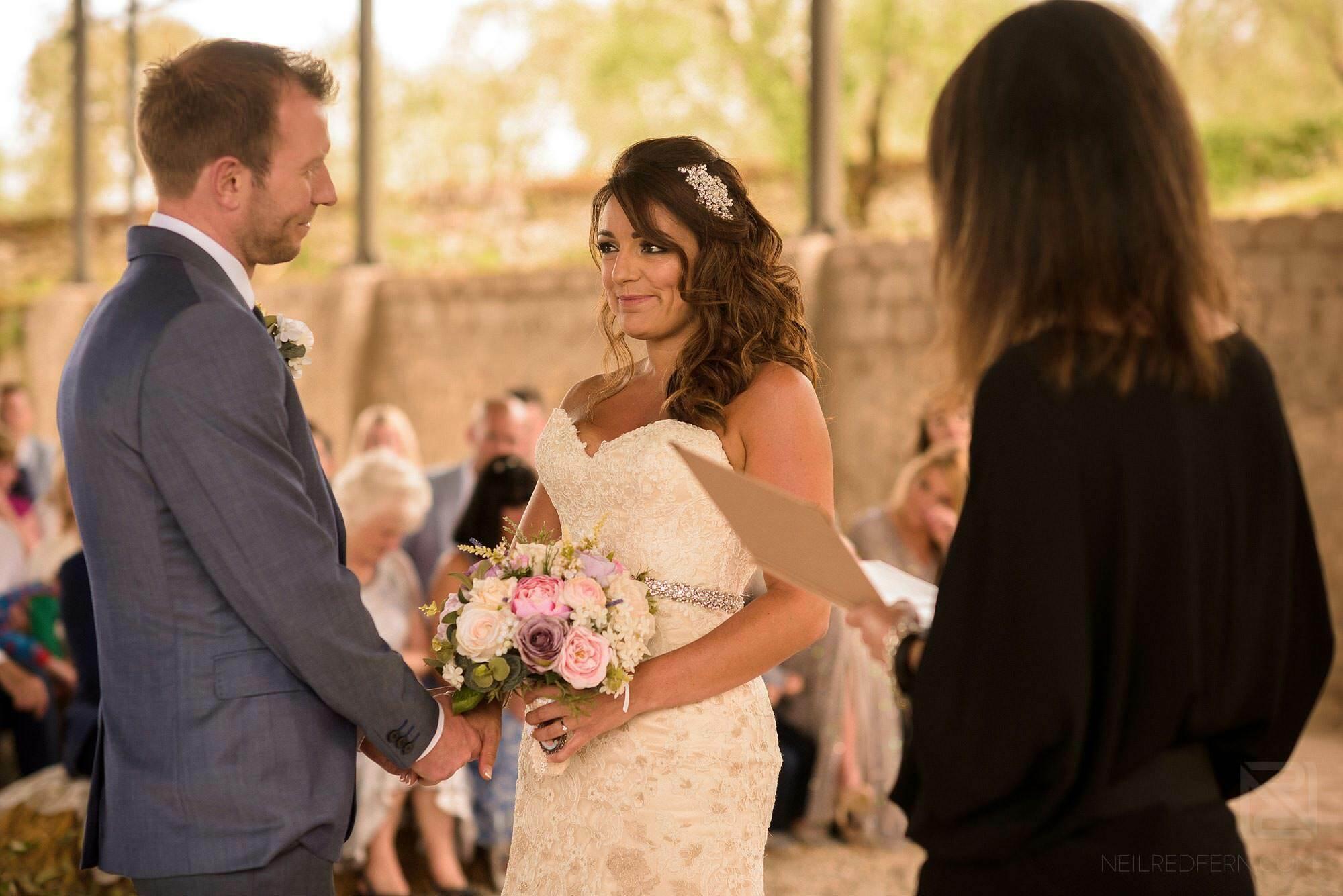 wedding ceremony in Montestigliano