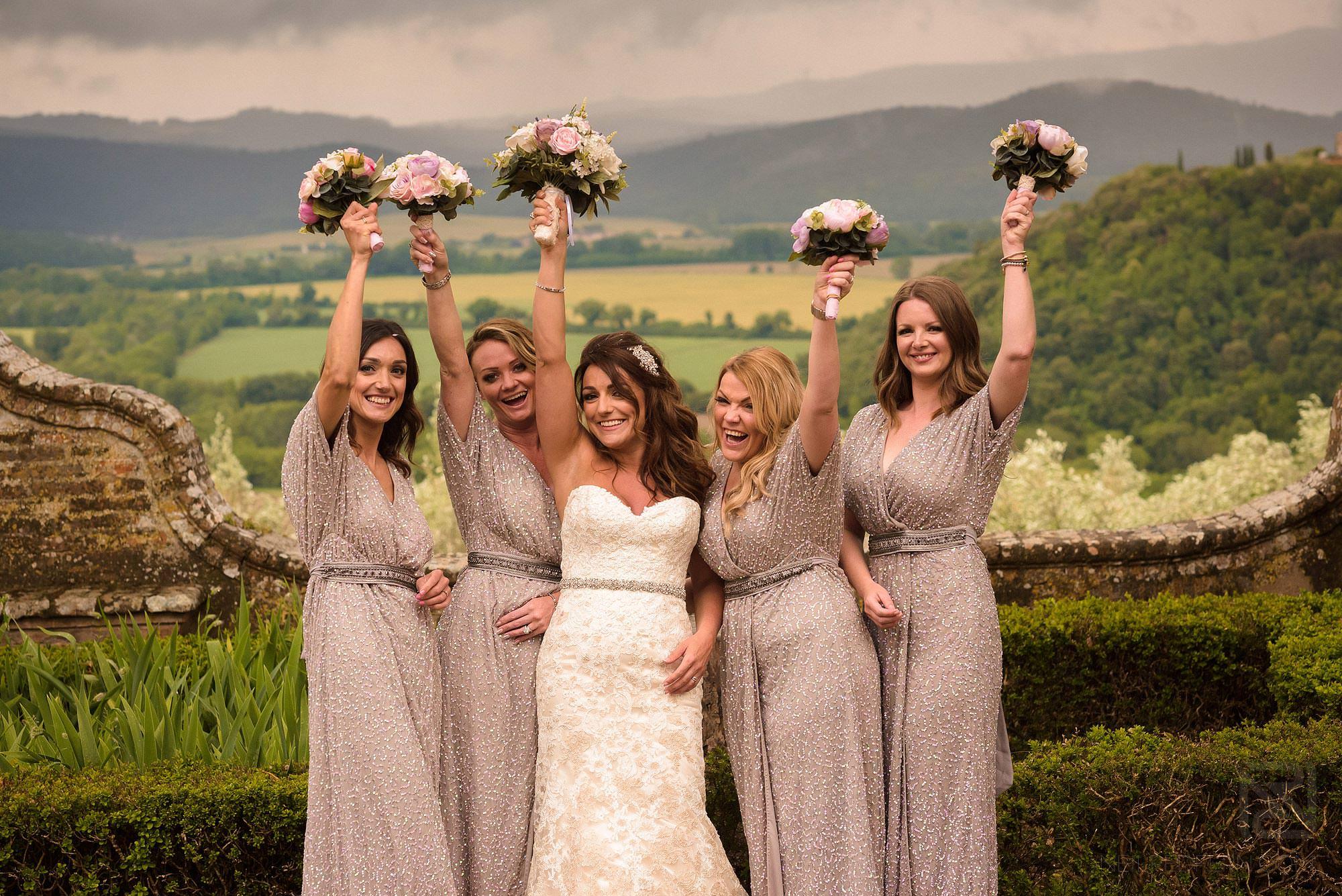 bridesmaids in Montestigliano