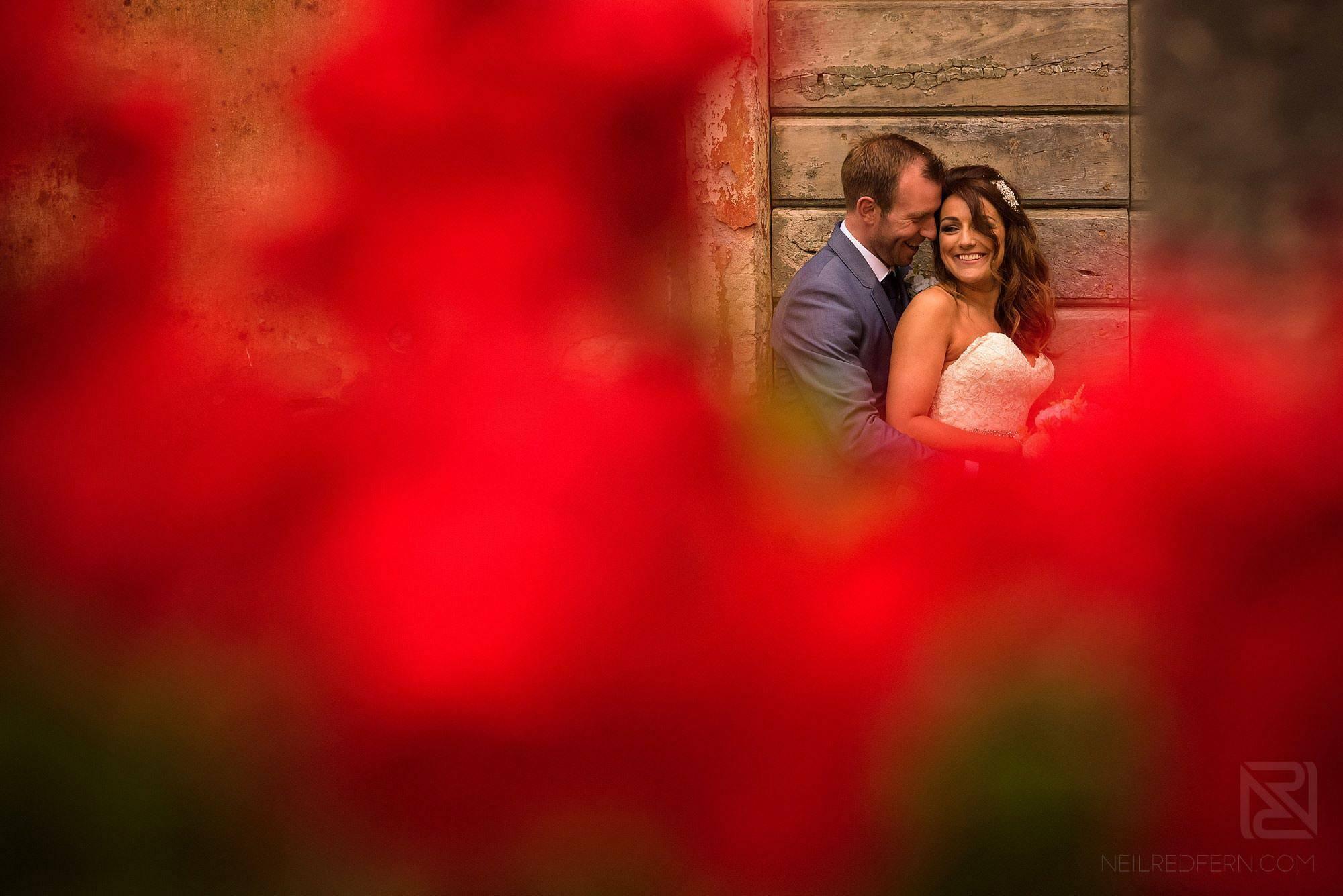 bride and groom together in Montestigliano